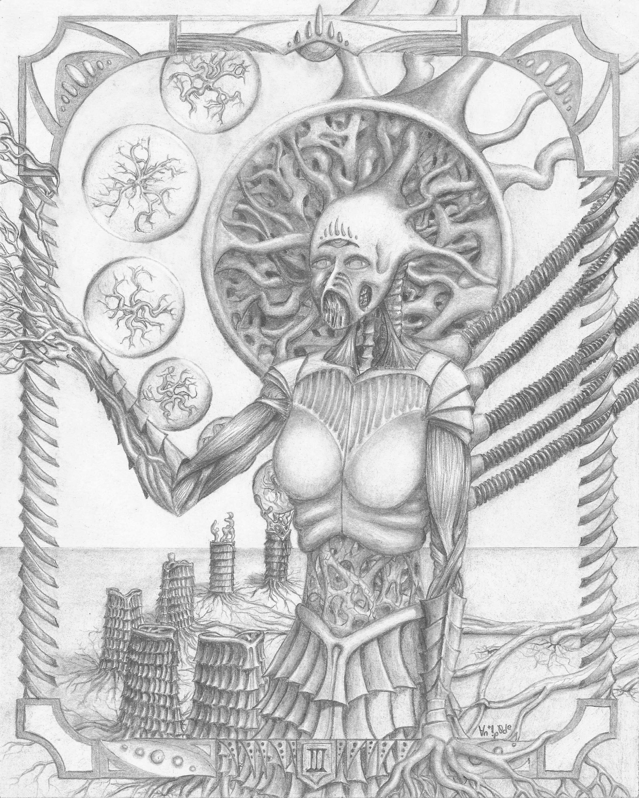 III, graphite on paper, 2015