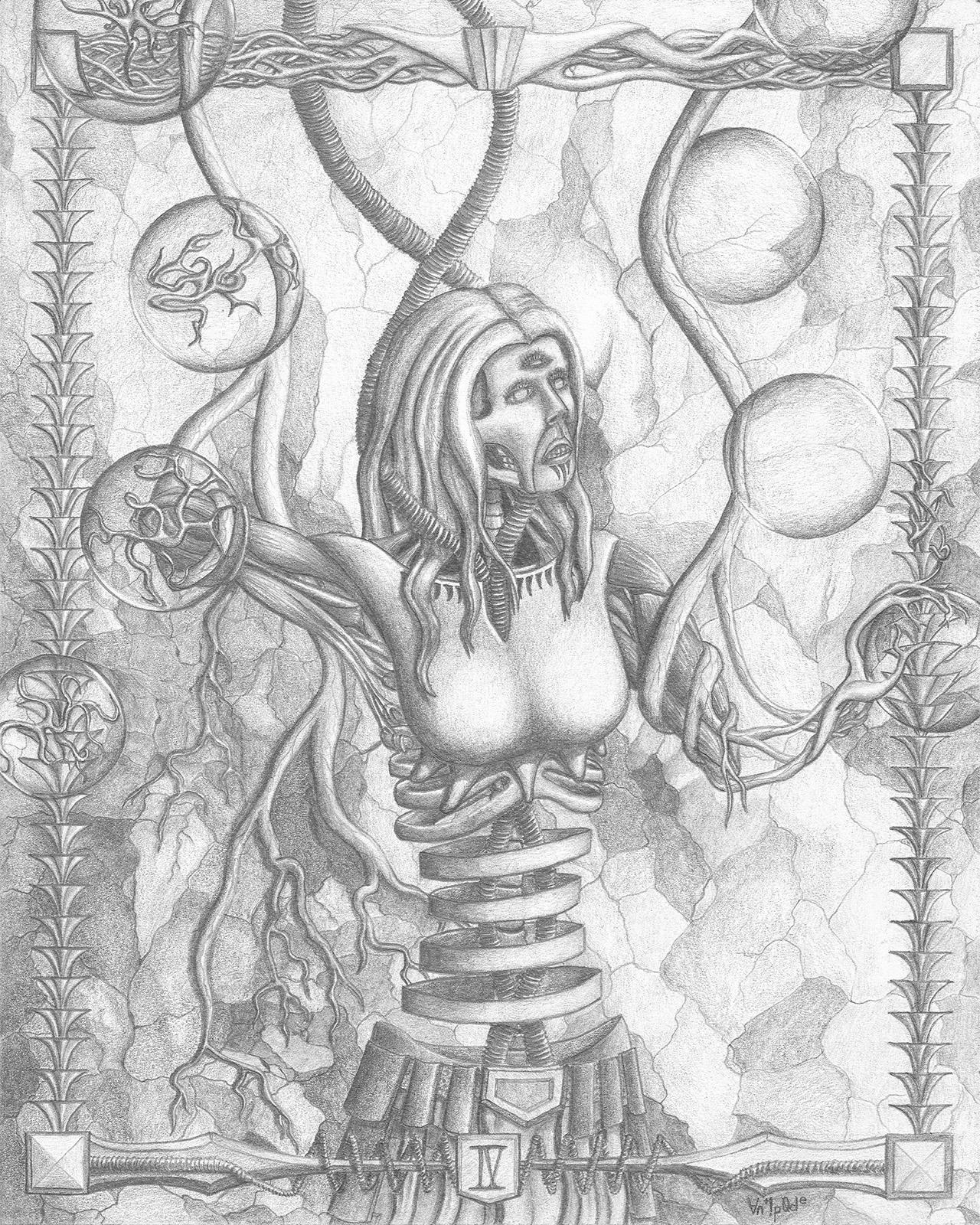 "IV, graphite on paper, 8x10"", 2015"