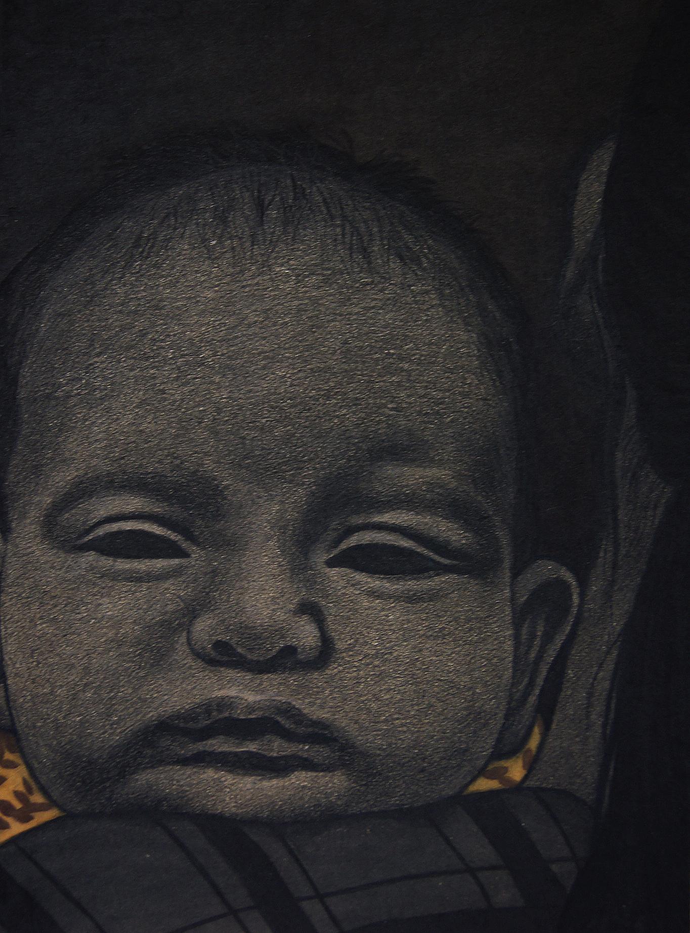 외출하기가 귀찮은 어느 신생아의 초상