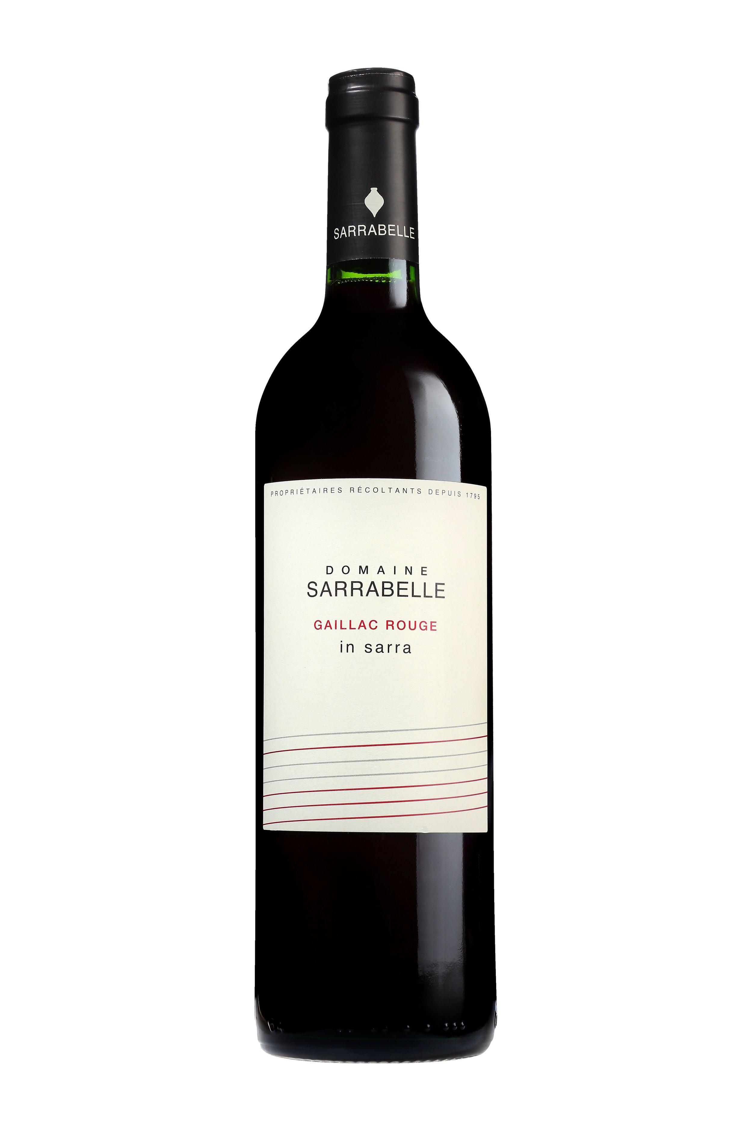 赢莎拉 红葡萄酒  2016    Gaillac Red 2016   45% Syrah  30% Braucol  15% Duras  10% Merlot