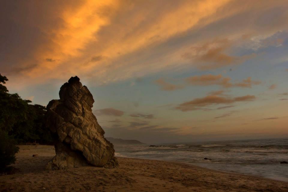Playa Hermosa at sunset