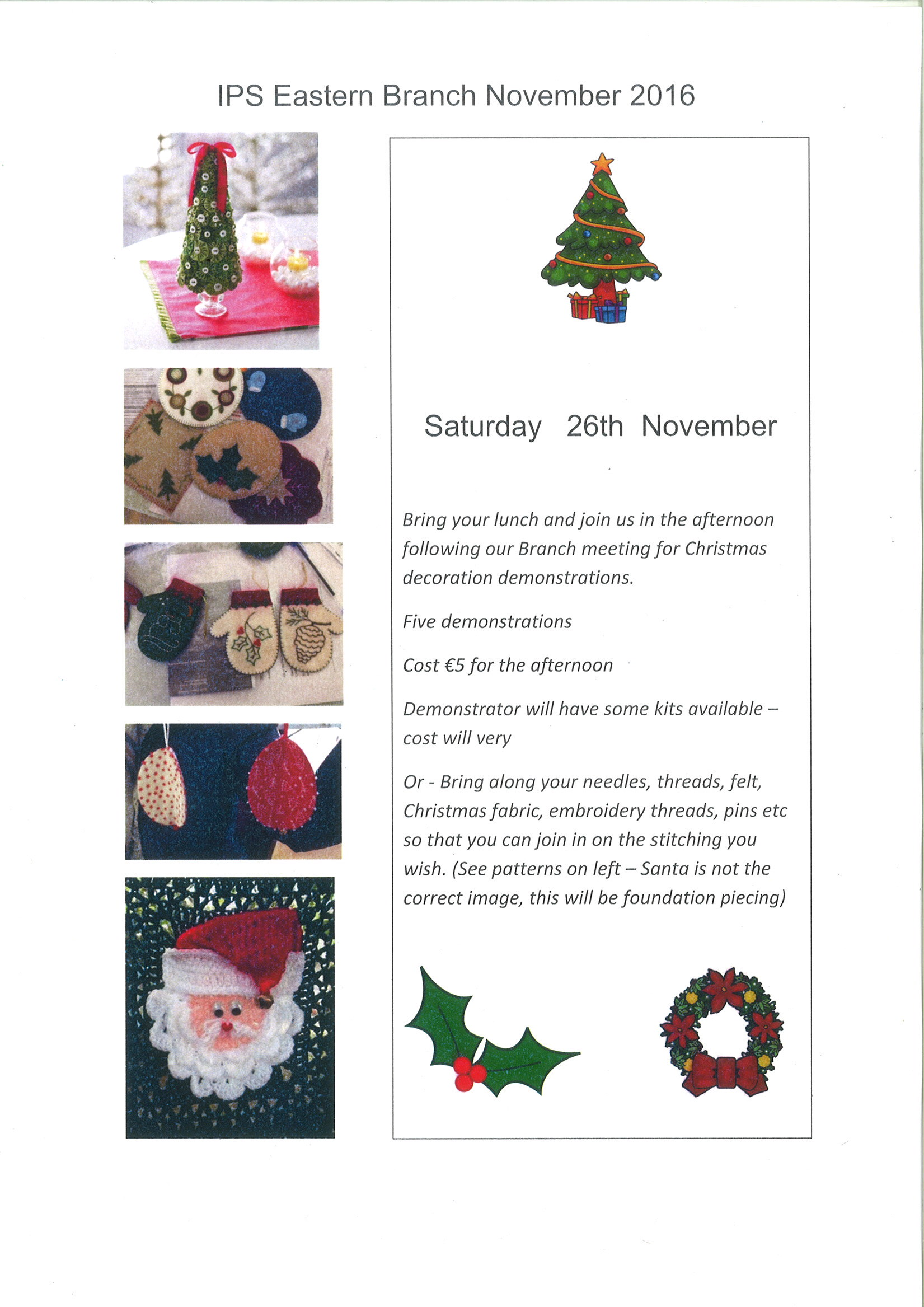 Christmas Craft Demonstrations 2016
