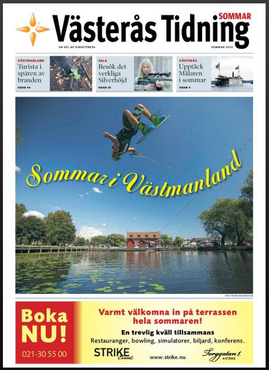 Cover, Västerås Tidning, 2015