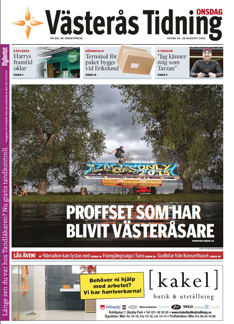 Cover, Västerås Tidning 2016
