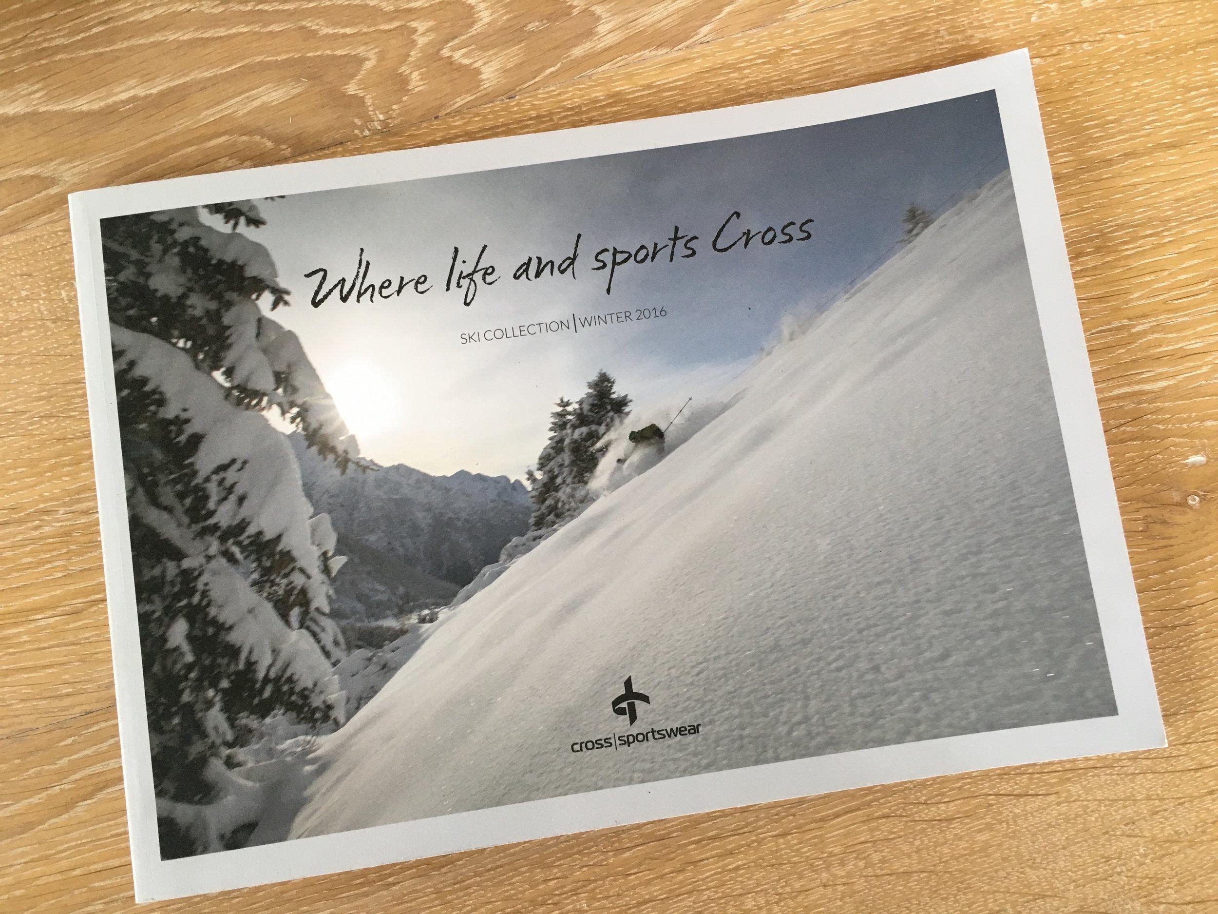 Cover, Cross Sportswear ski Collection, 2016