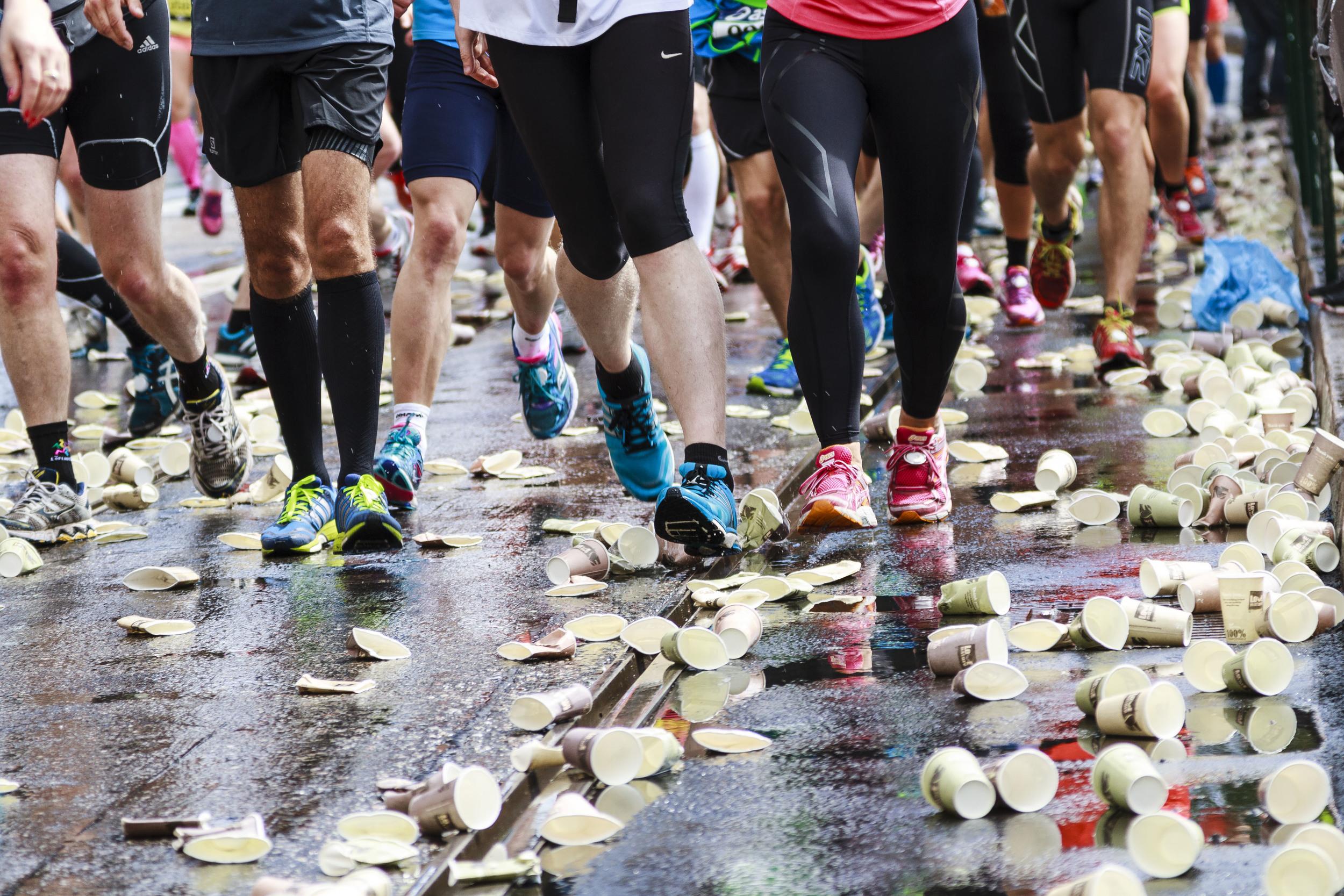Thirsty runners.