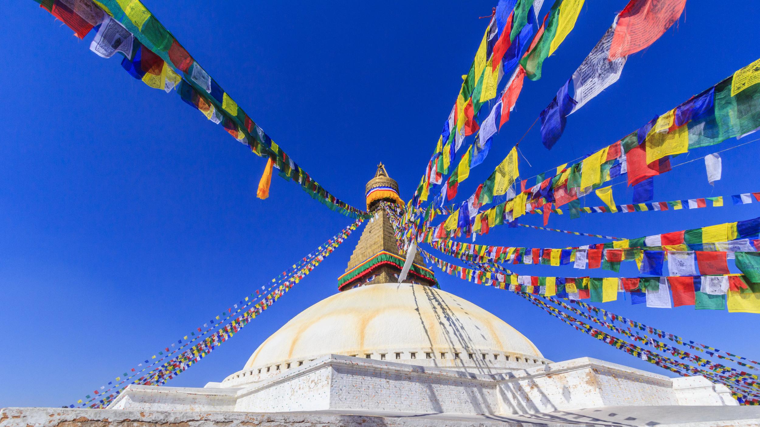 A World Heritage Site. The Boudhanath Stupa.