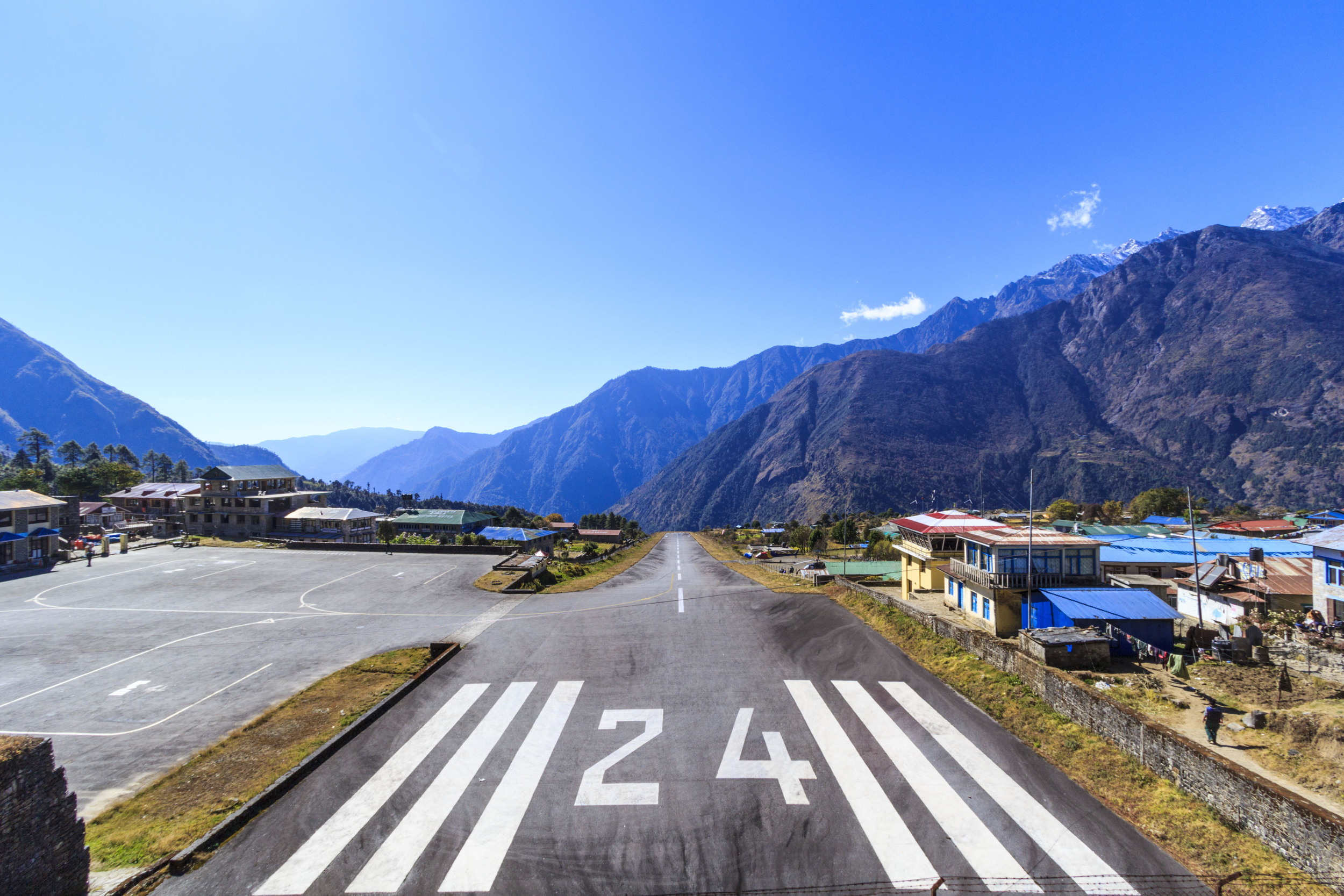 Arriving to Lukla airport.