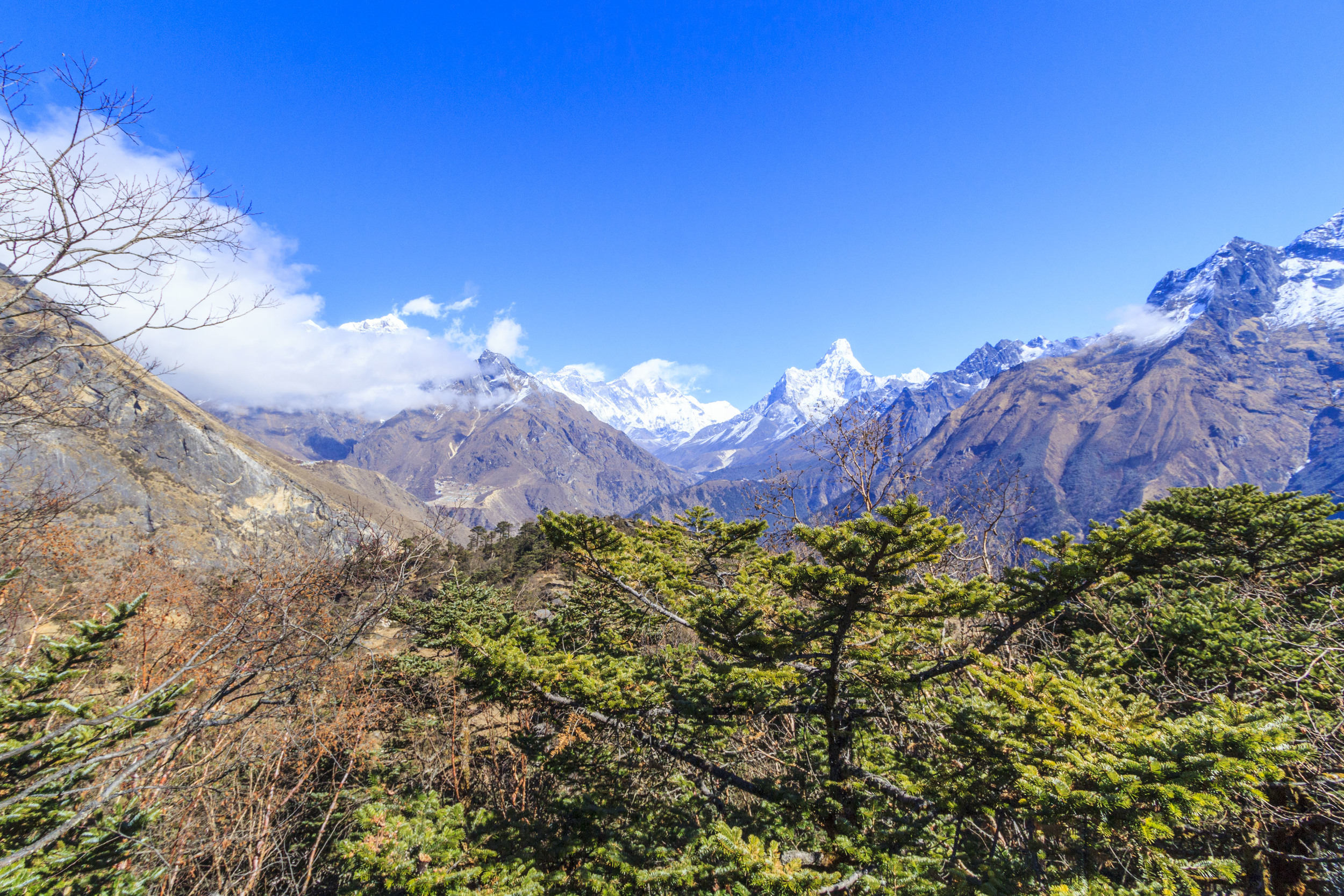 In the end of this valley. Dingboche 4200m.