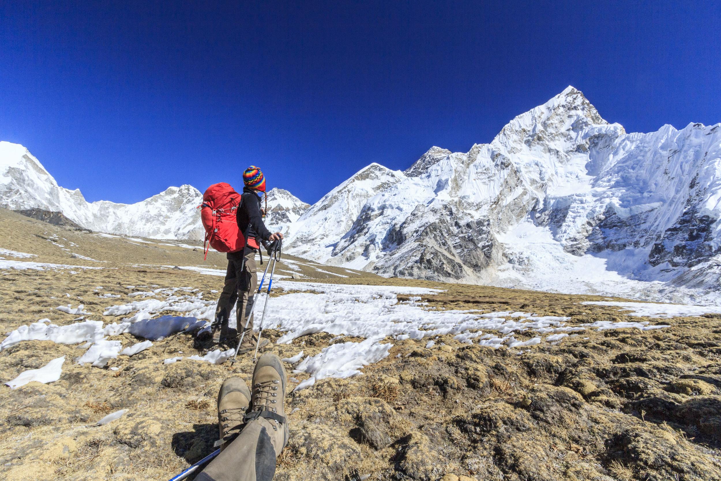 Last push towards Khala Pattar 5600m.