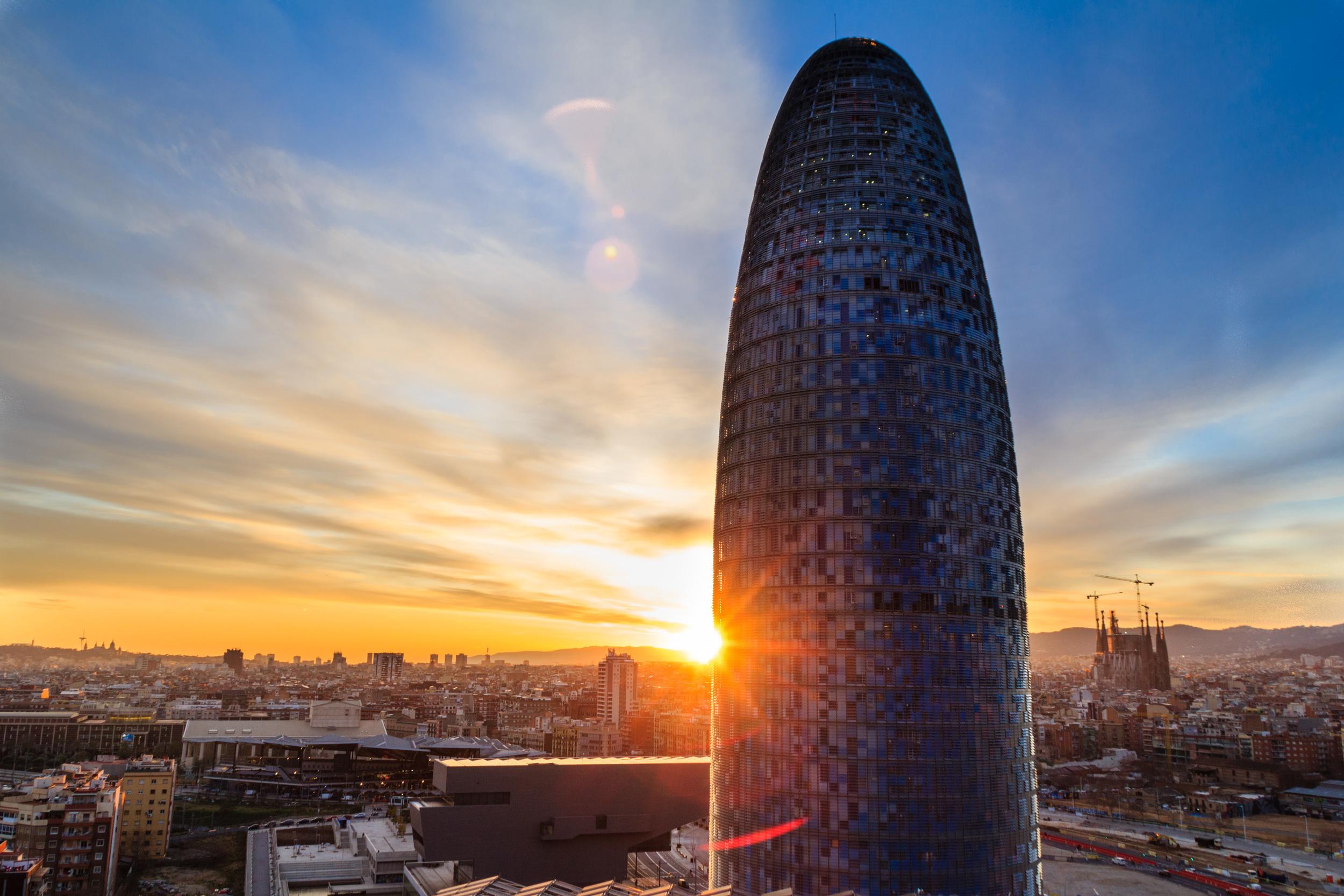 Torre Agbar and Sagrada Familia.