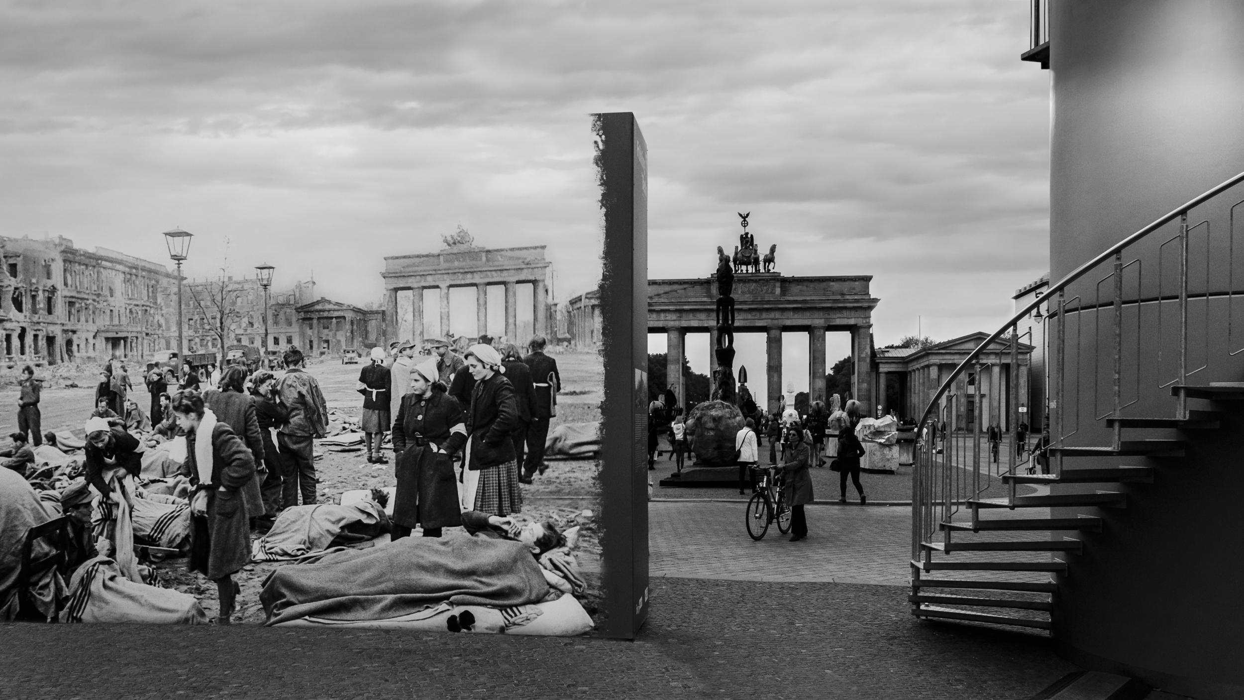 Brandenburger Tor 1945 and 2015