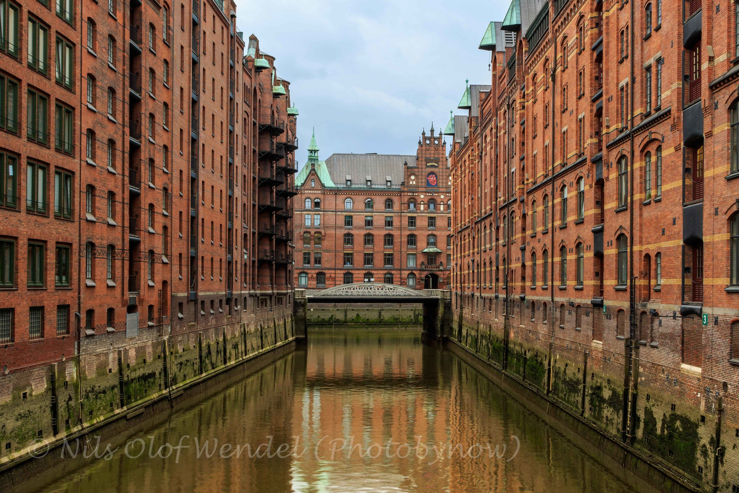 Hamburg harbour area.