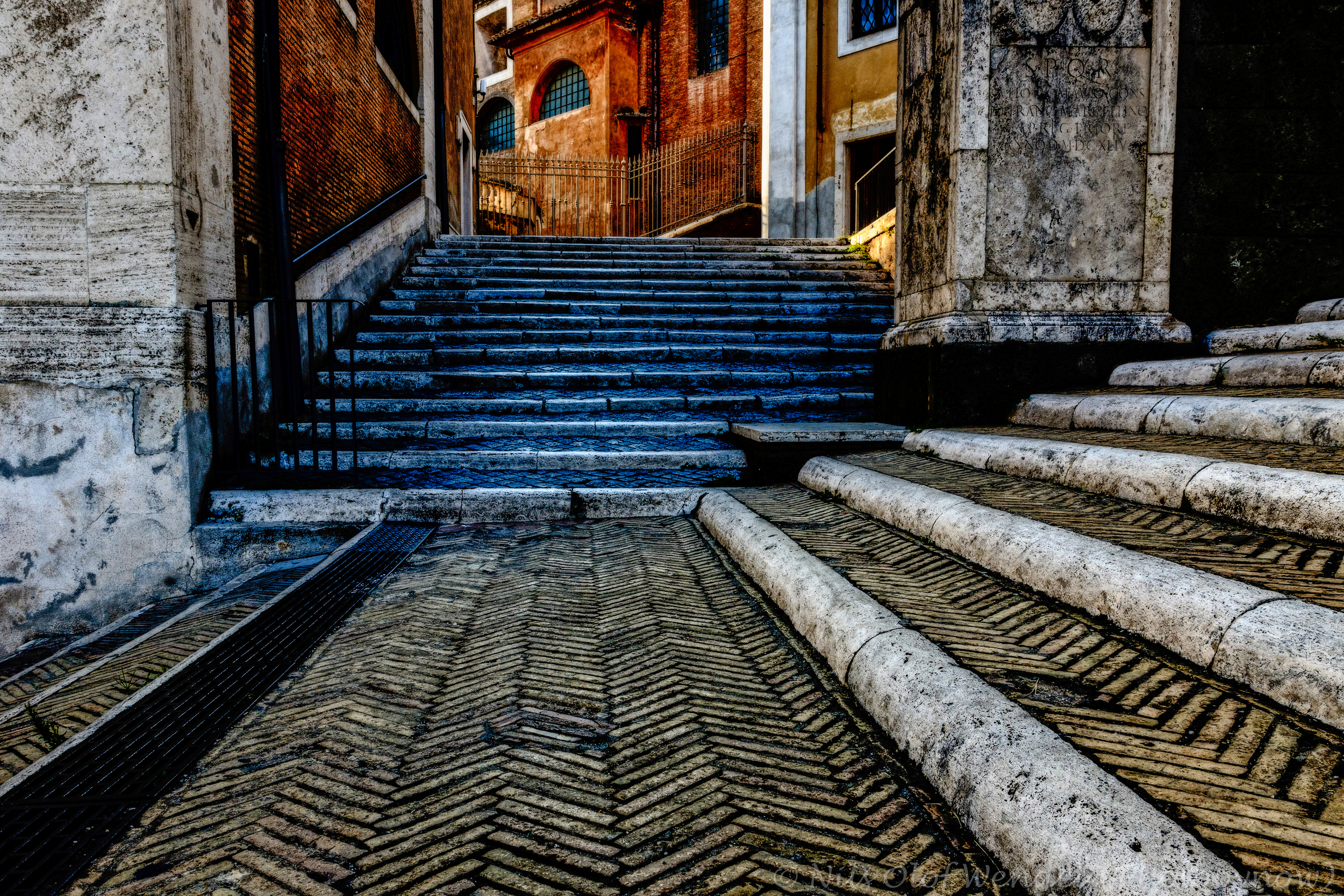 Stairs in Rome, Italy.