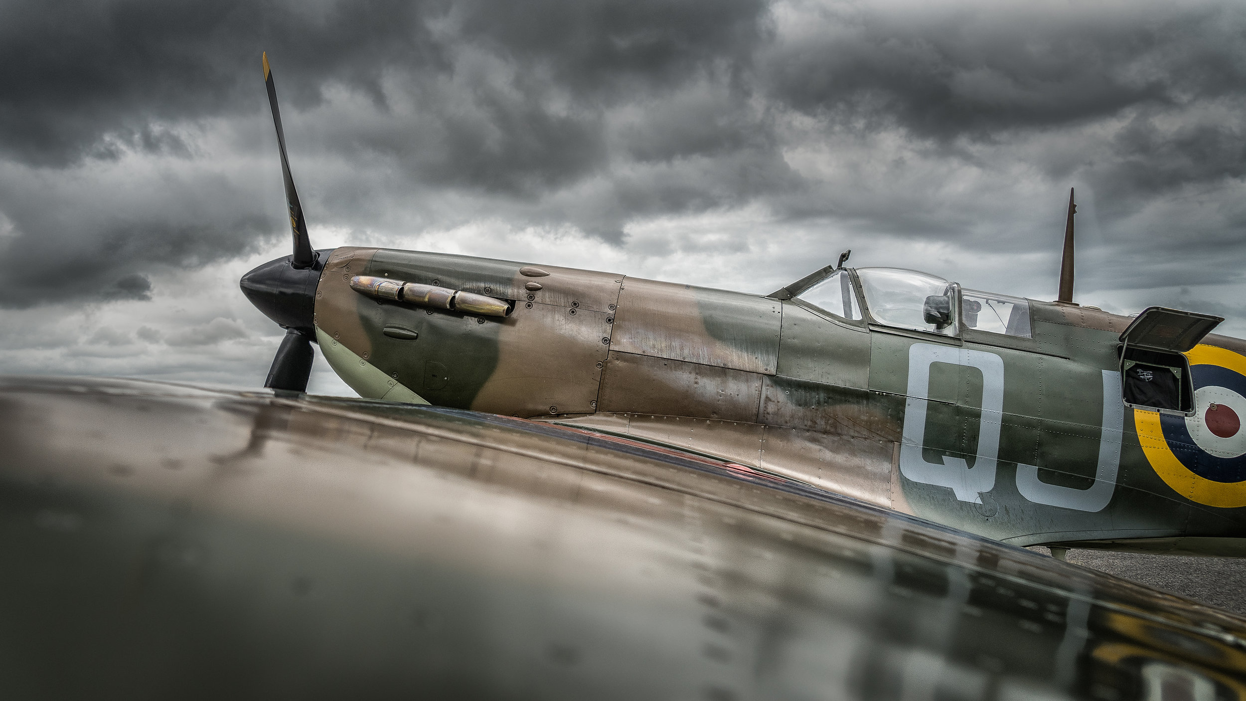 A Spitfire at Bournemouth airport.