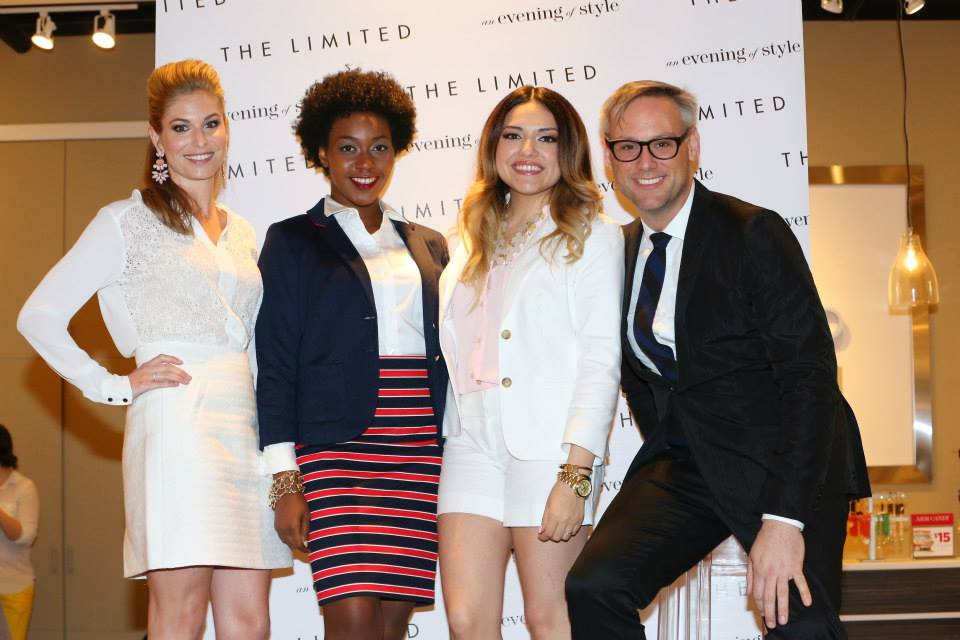 The bloggers with The Limited's head of design, Elliot Staples. Love his designs! One Small Blonde in lace, me in nautical, and Ashes Into Fashion in pastels. Photo c/o The Limited.