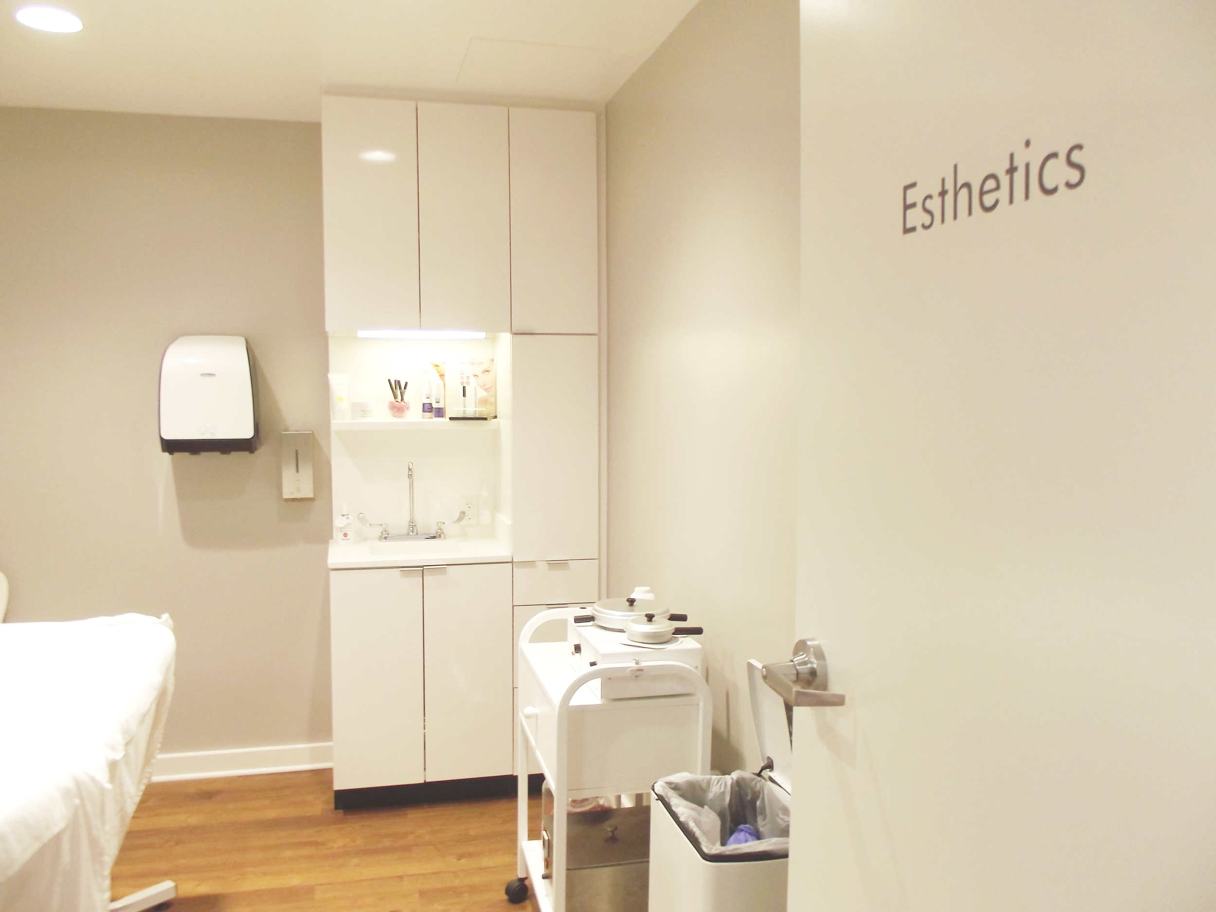 The esthetics room -- basically where you go to get waxed. Eek!