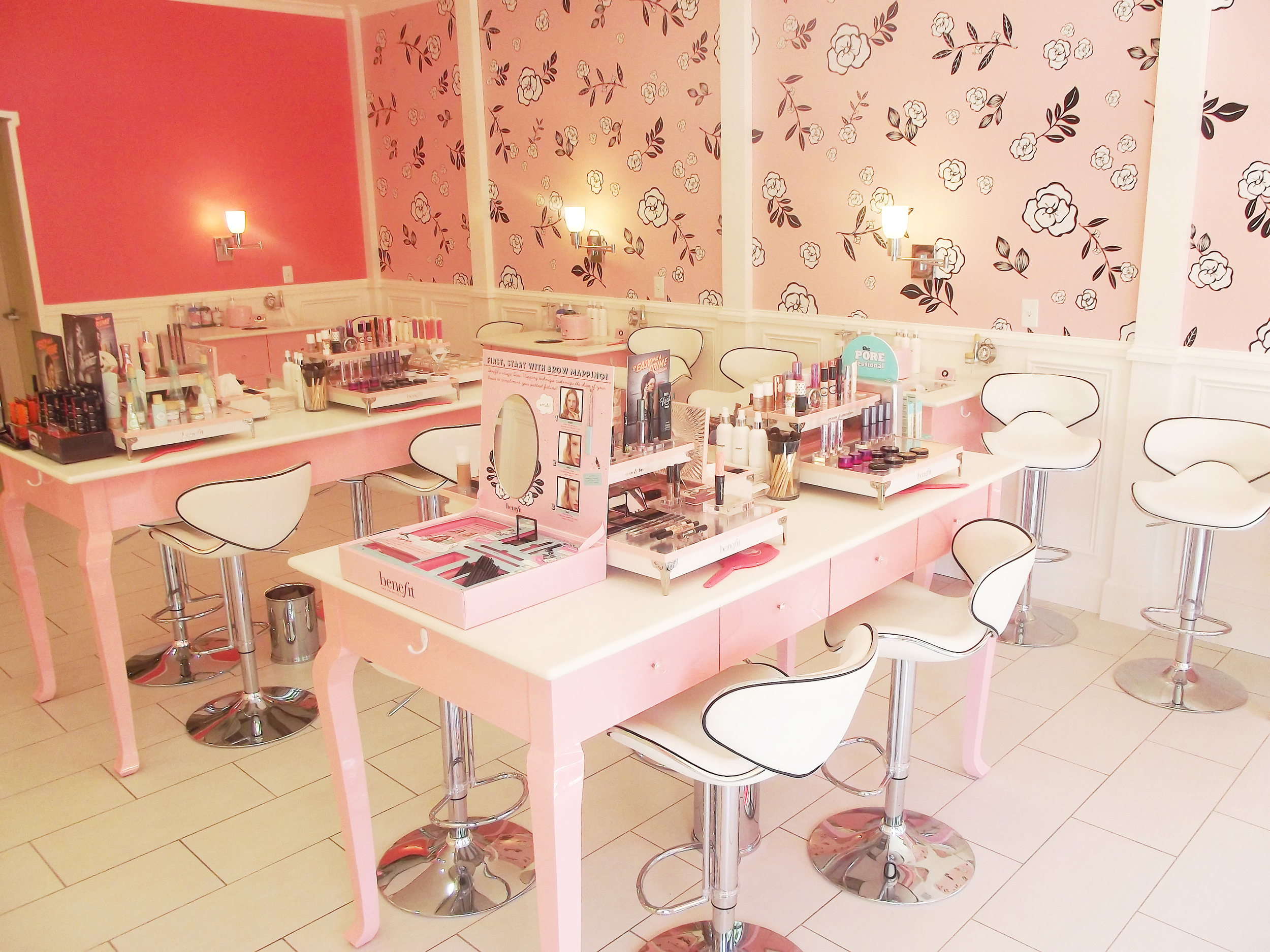 This is overview of the boutique. There are stations set up all over the store for different services offered and different product types!