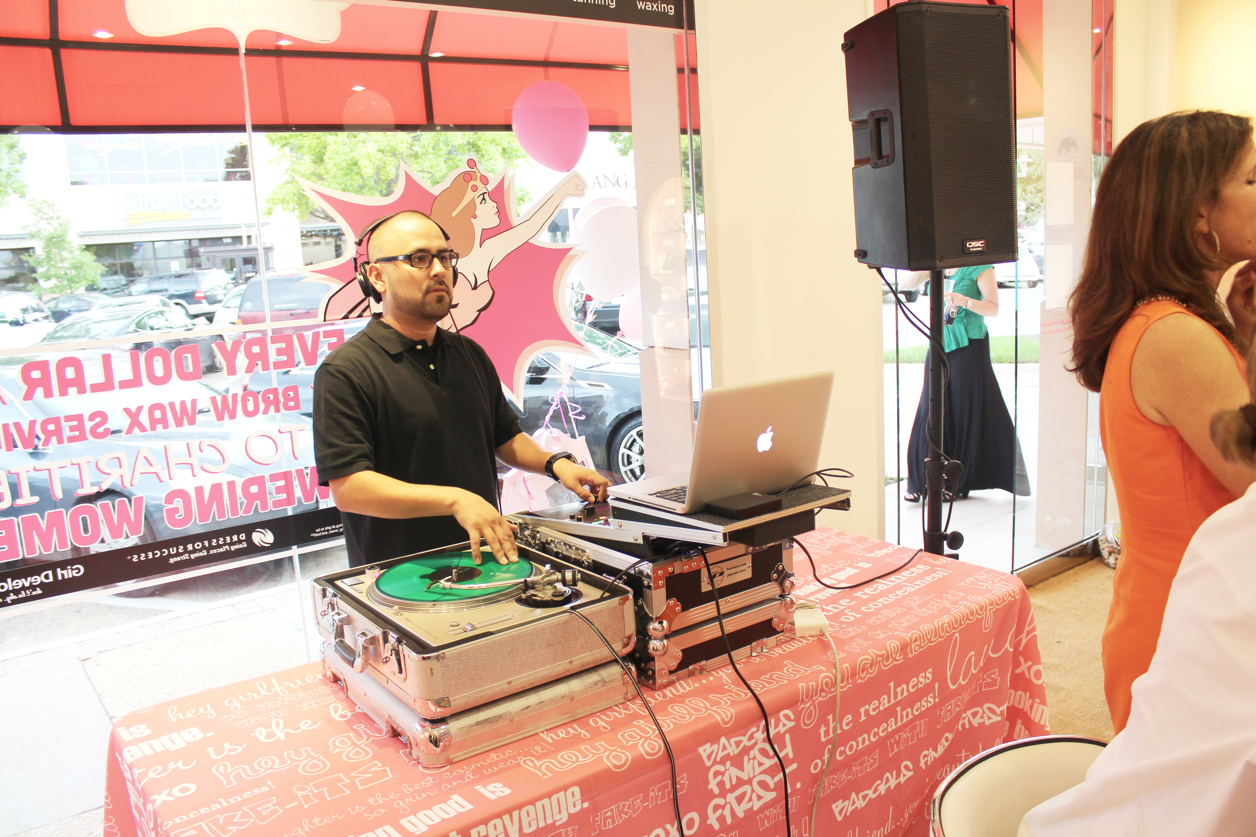 DJ spinning the latest hits