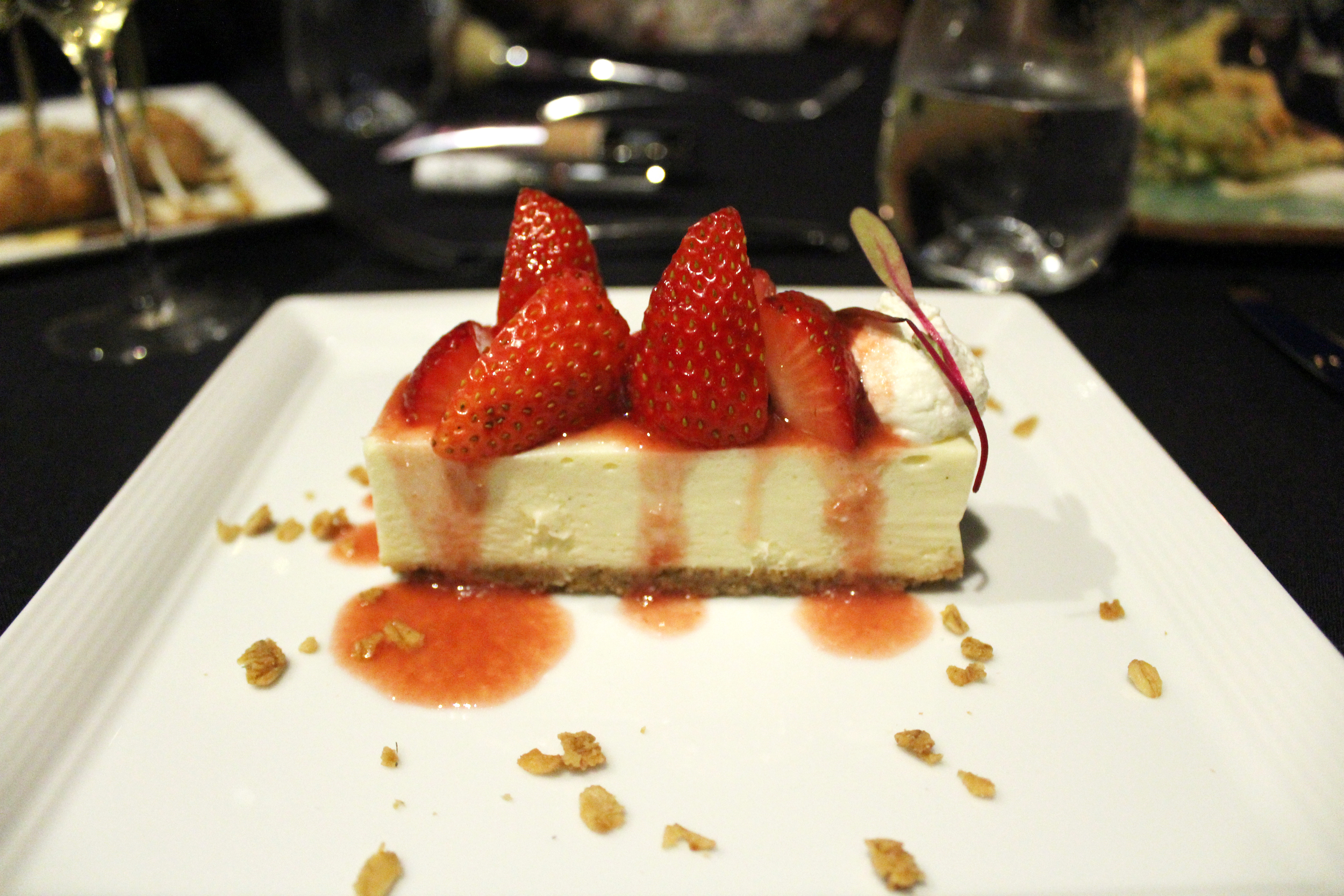 You can never go wrong with strawberry cheesecake.