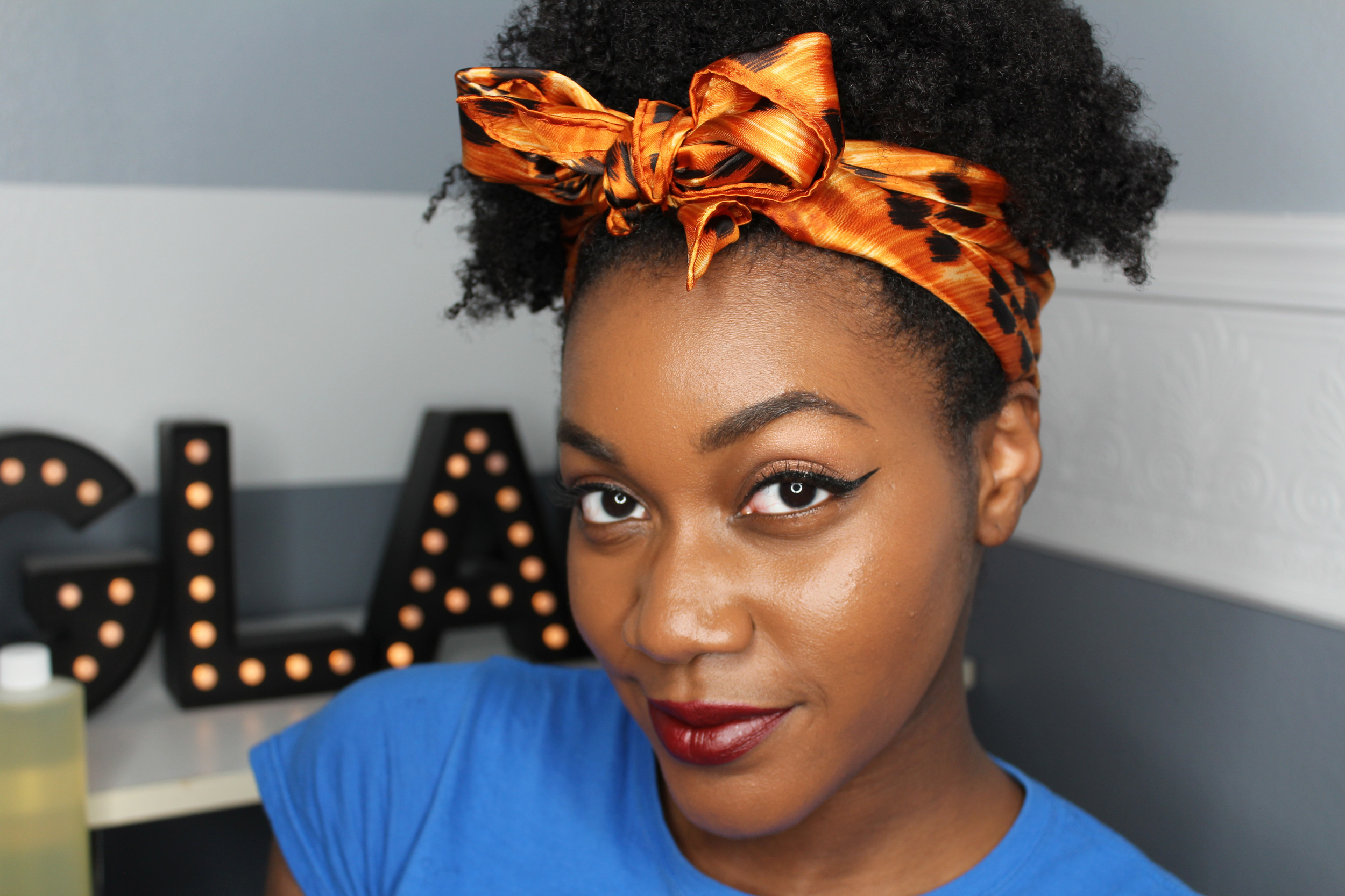 How To Reduce Frizz Rock A Scarf For Natural Hair Jaleesa Charisse