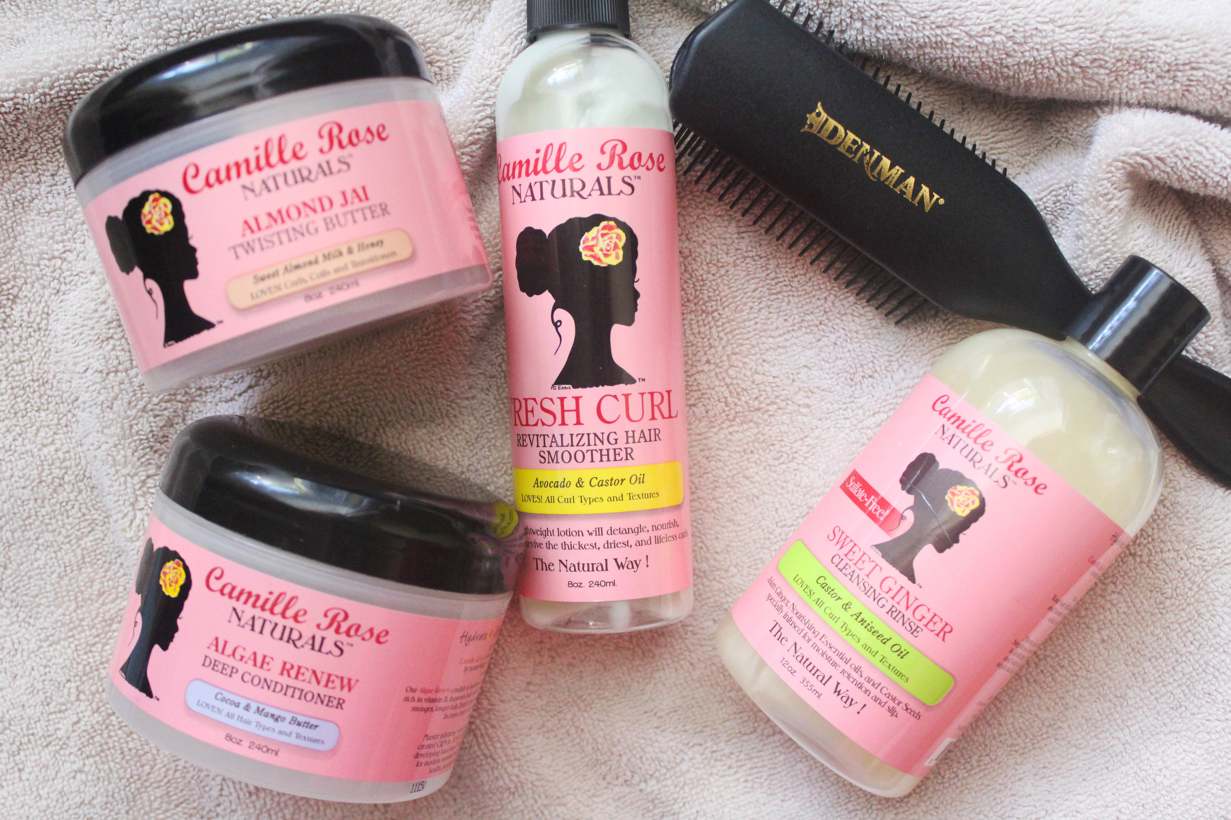 camille rose naturals routine