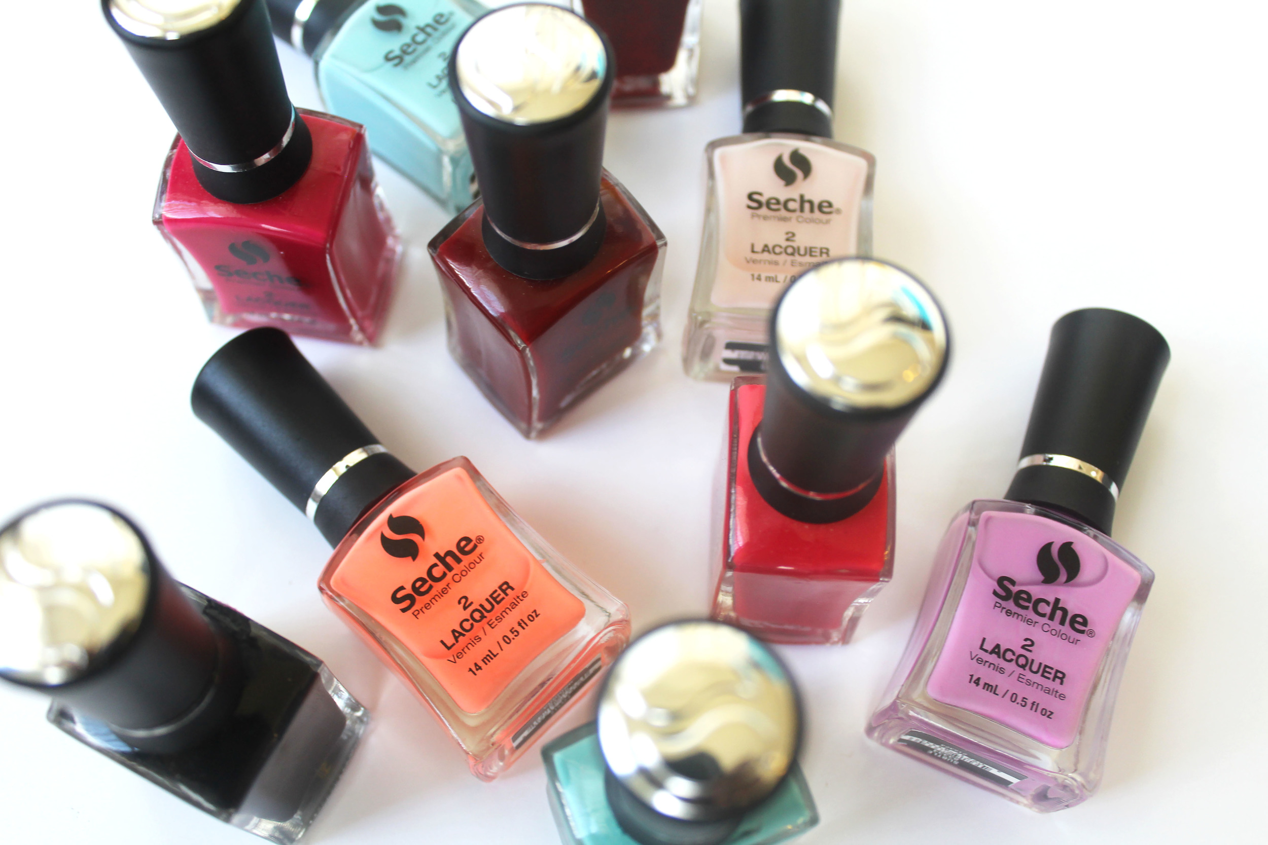 seche premier colour nail polish step 2