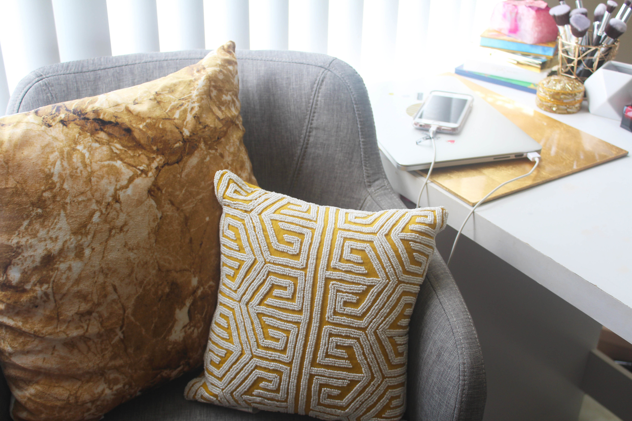 Geostone Throw Pillow ($12.99) // Beaded Throw Pillow ($19.99)