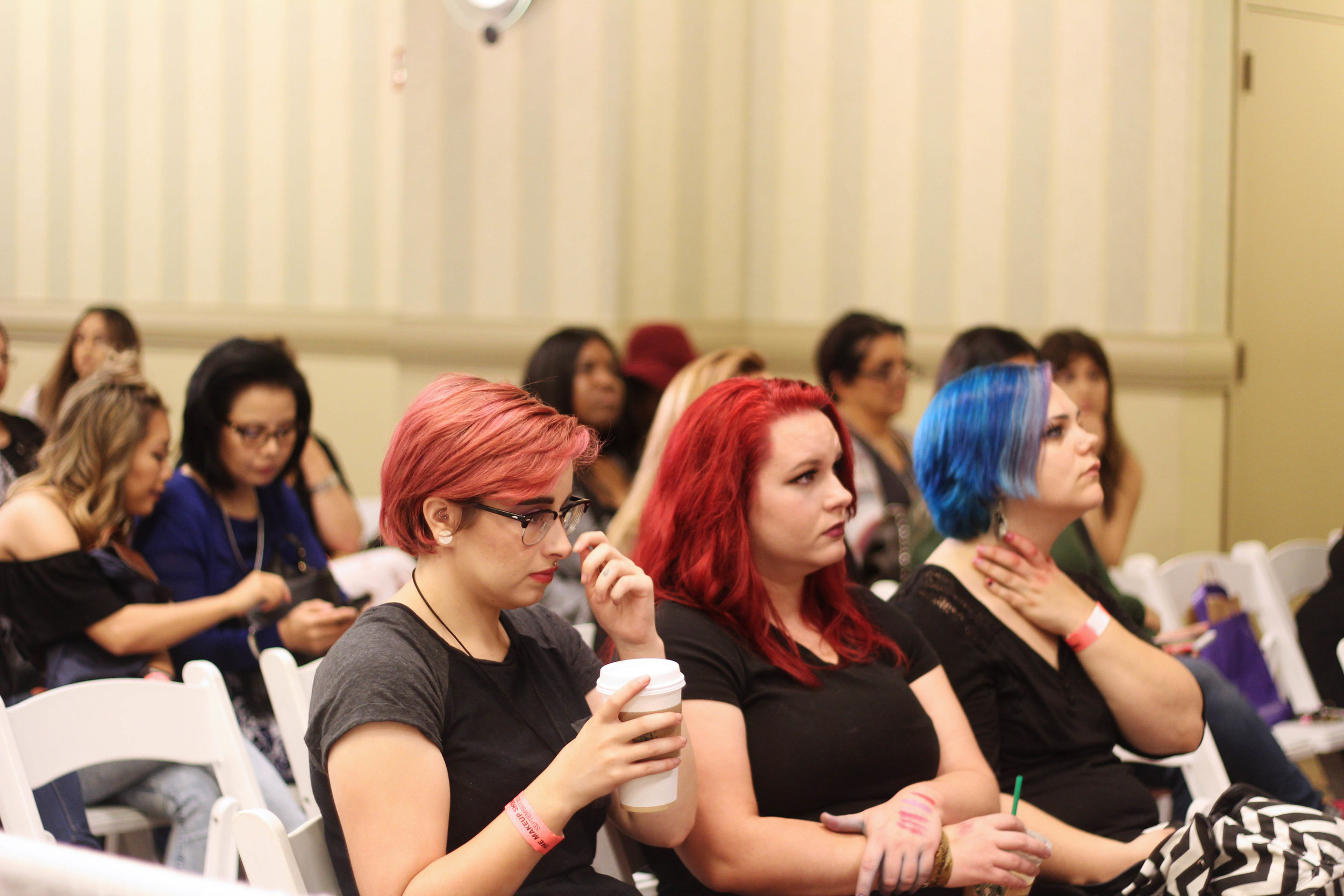 Workshop Audience at The Makeup Show Dallas