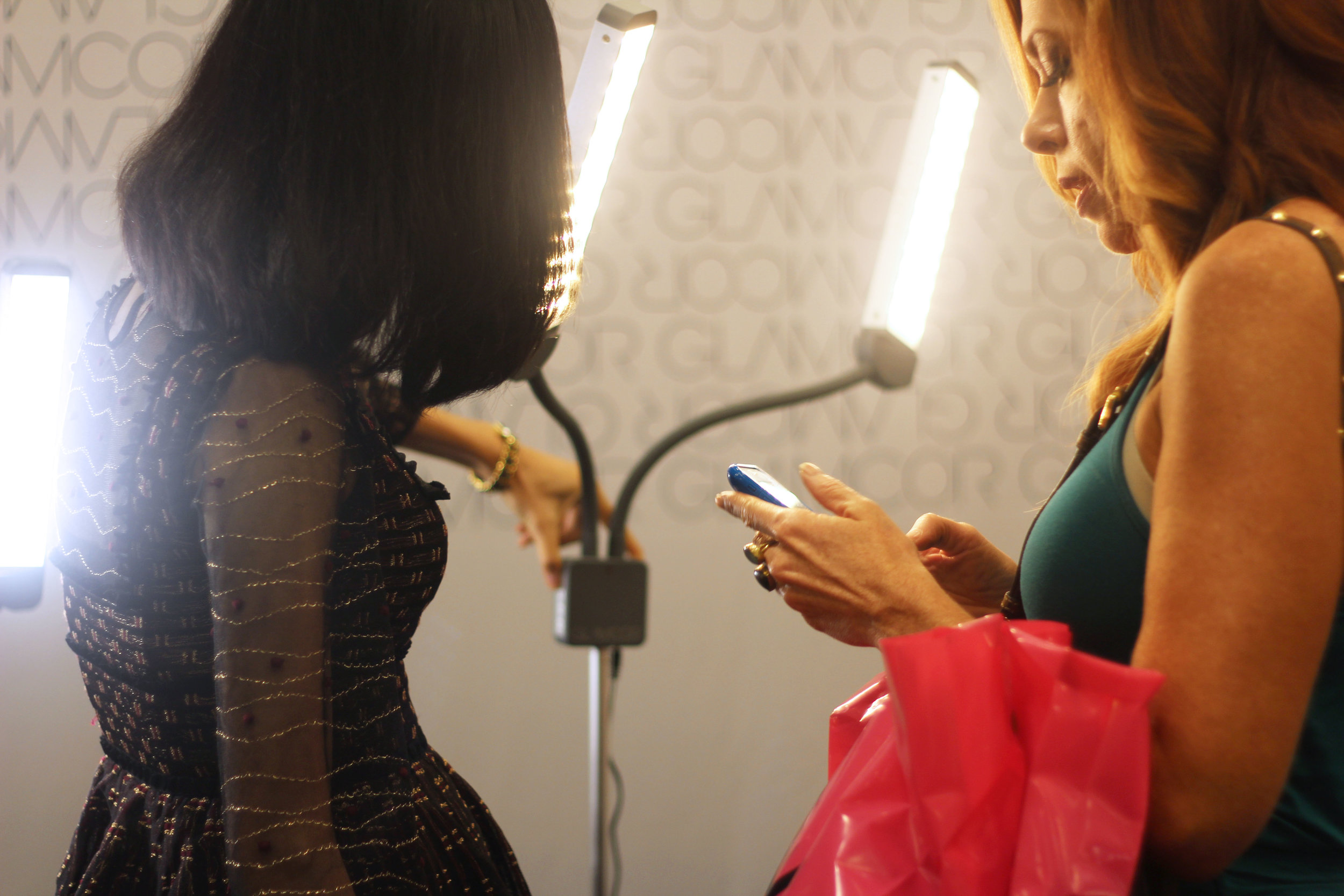 glamcor lights at the makeup show dallas