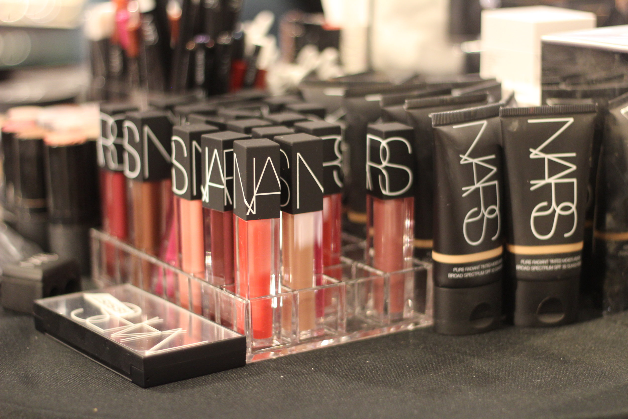 NARS at one of the express makeover booths after the Nordstrom Beauty Trend Show at NorthPark Center.