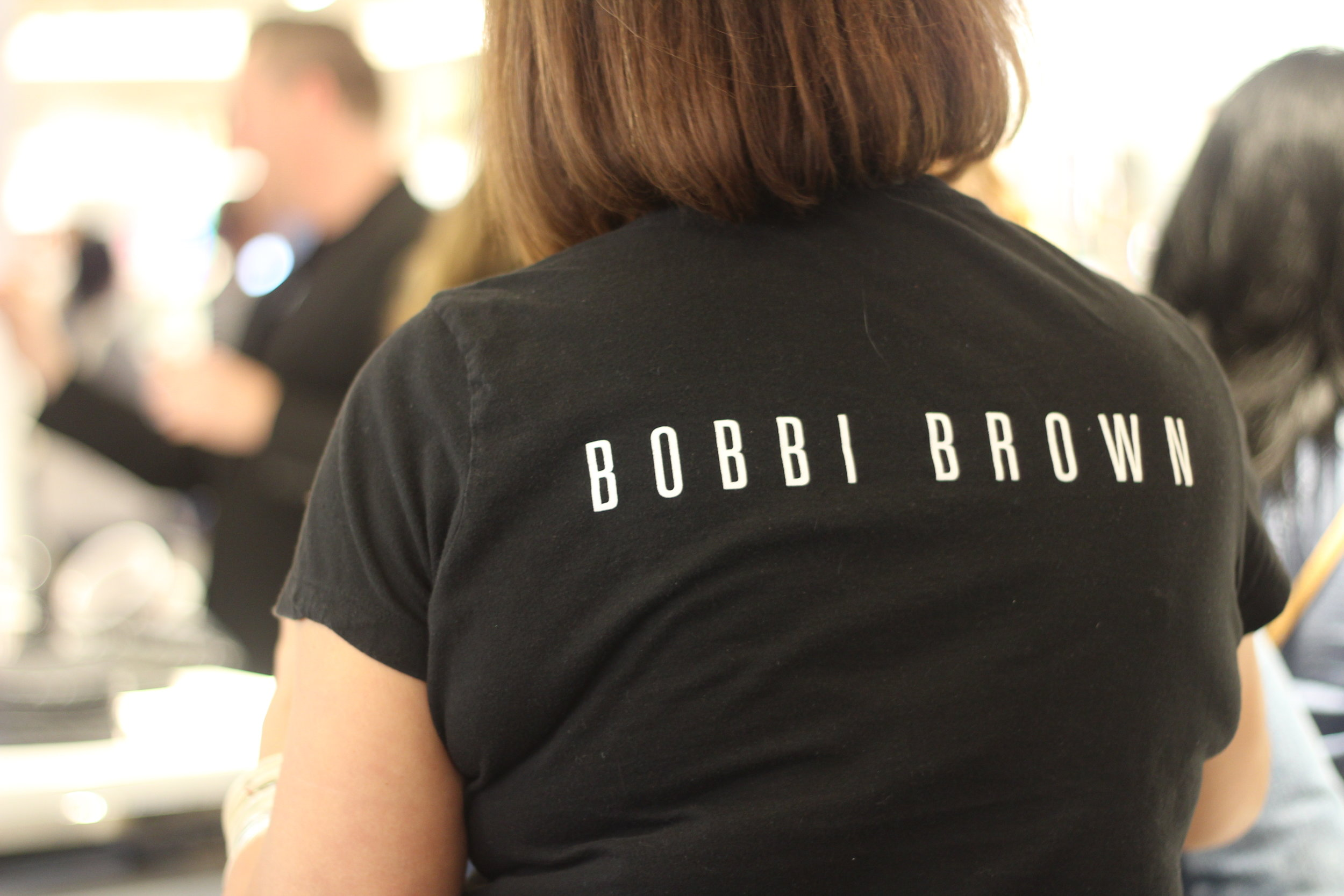 Consultants and pro artists at the Bobbi Brown counter at Nordstrom NorthPark Center.
