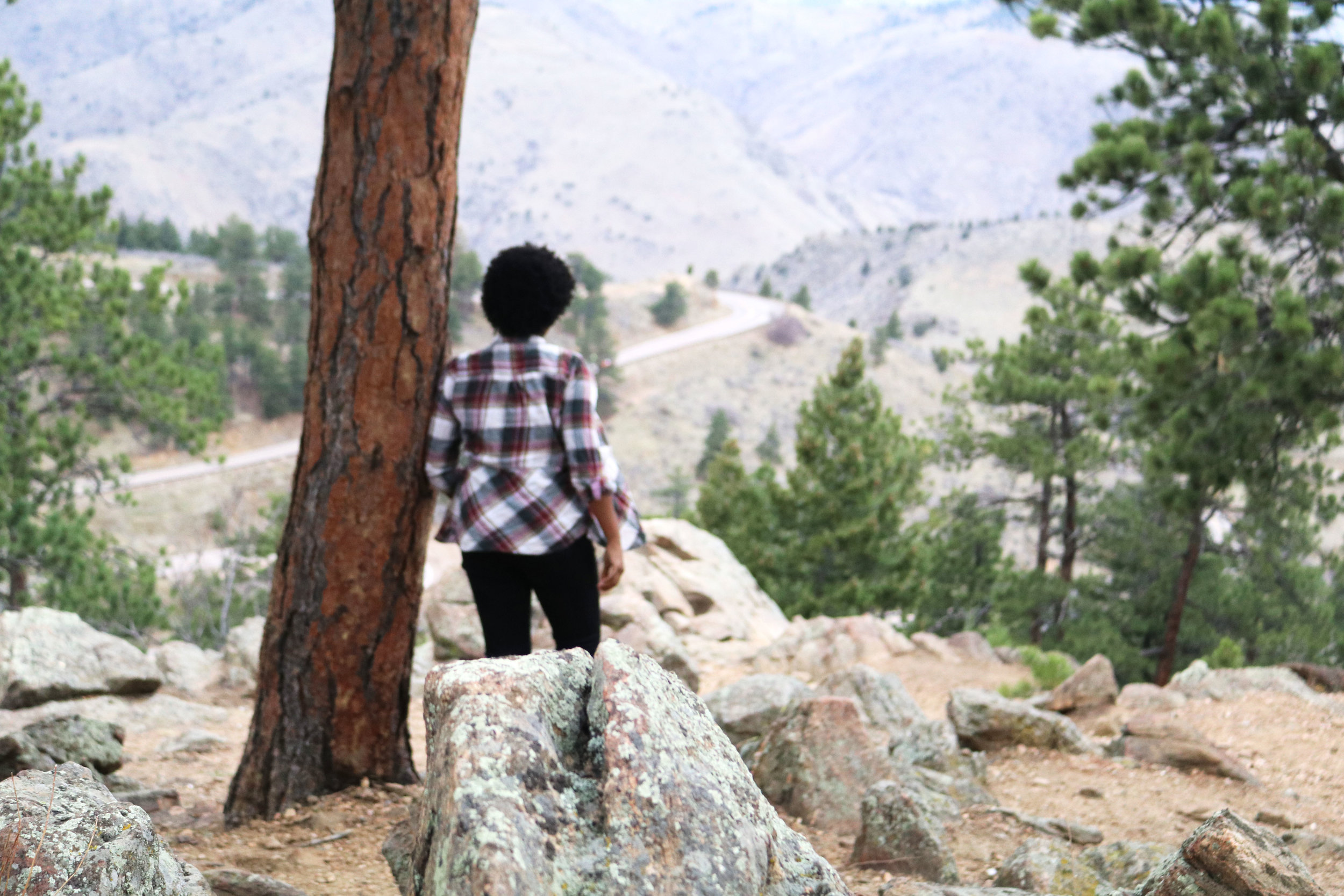 Me gazing into the mountains when we stopped at Lookout Mountain. Great spot for a beautiful view if you don't want to drive too far from Denver.