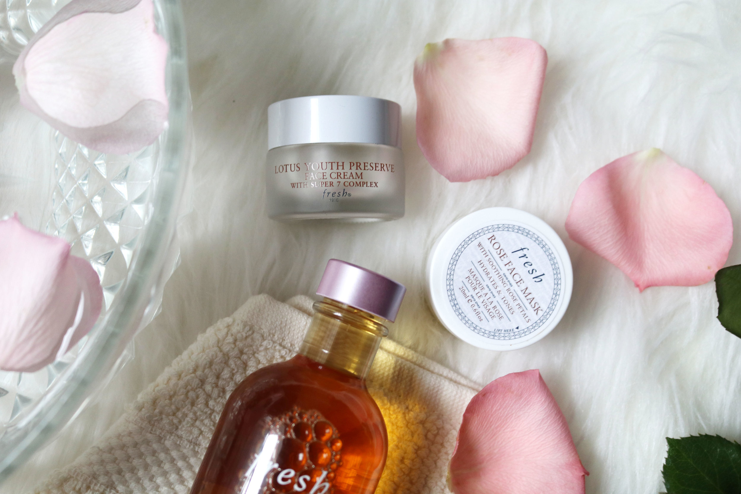 Fresh Rose Face Mask (sample) and Lotus Youth Preserve Face Cream with Super 7 Complex