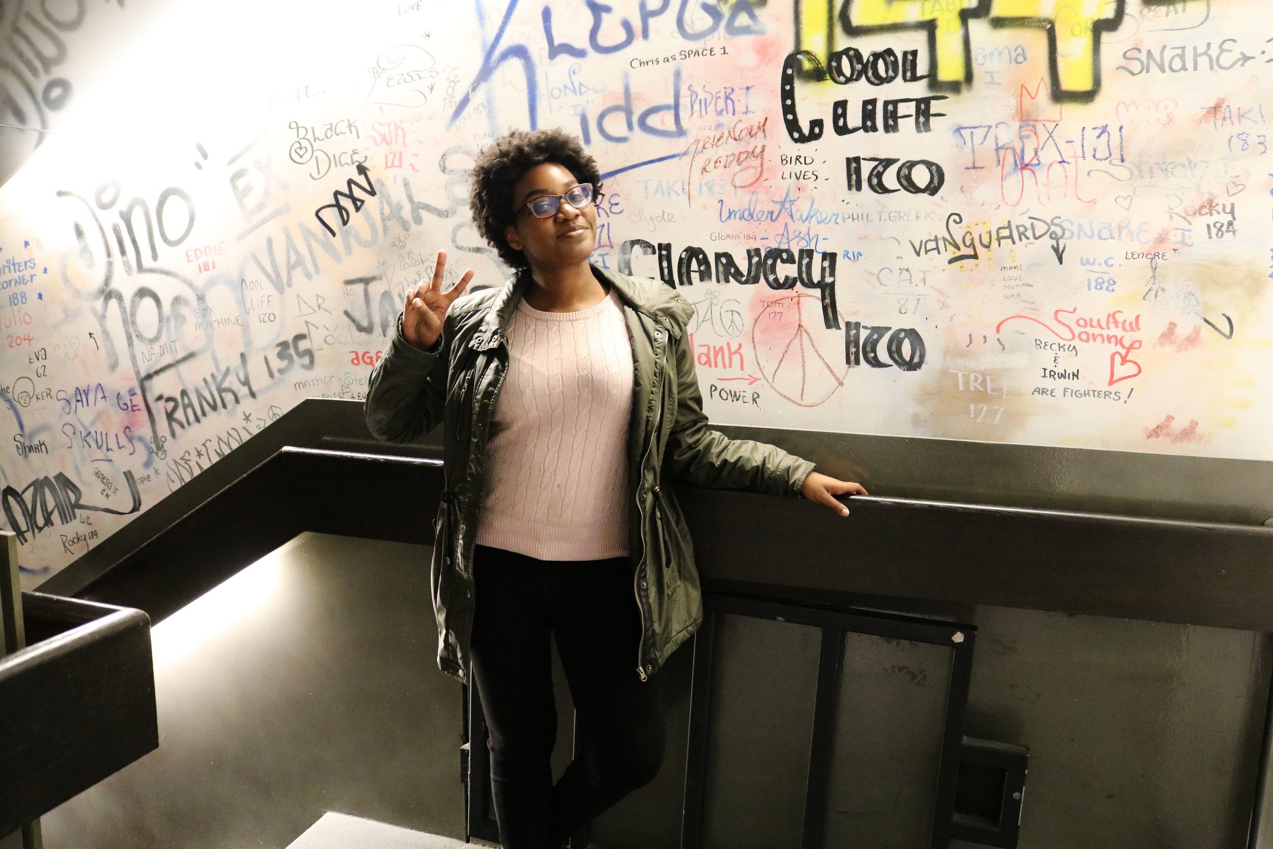 There was a dope graffiti exhibition called Wall Writers: Graffiti in Its Innocence at the MCA. The walls of the stairwells were covered in graffiti.