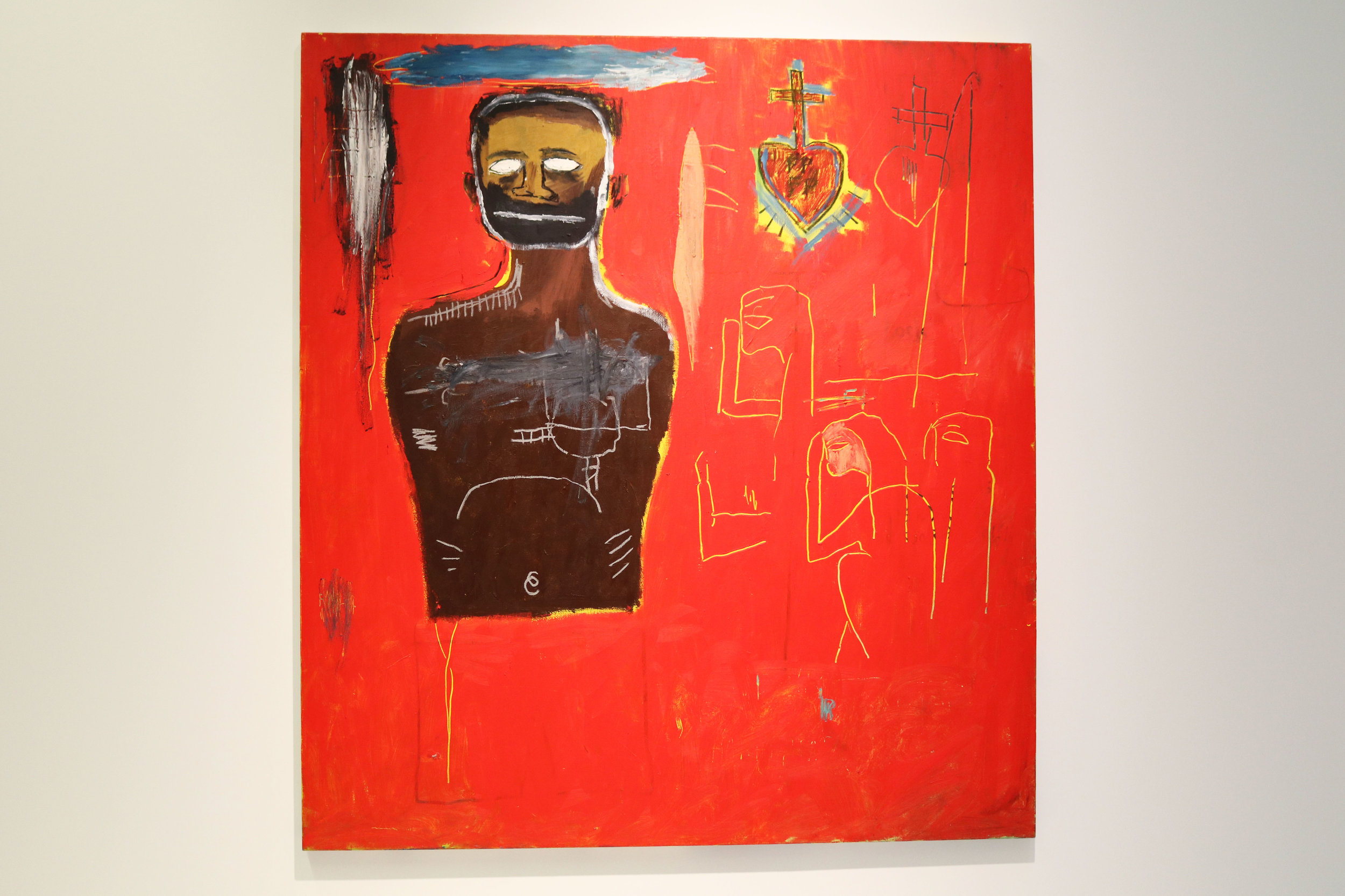 Jean-Michel Basquiat at the Denver Museum of Contemporary Art in the Basquiat Before Basquiat: East 12th Street, 1979-1980 exhibition.