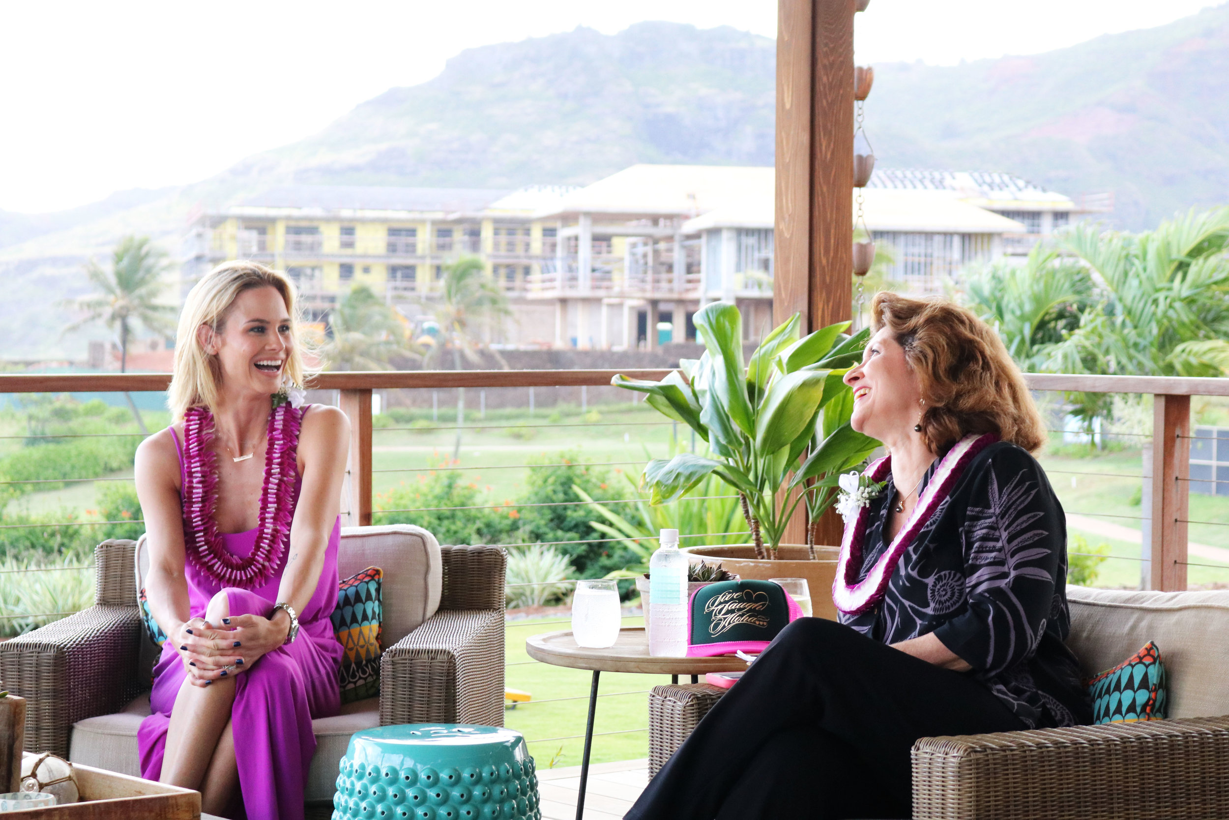 Meghan Edmonds with the Director of the Kauai Visitors Bureau, Sue Kanoho