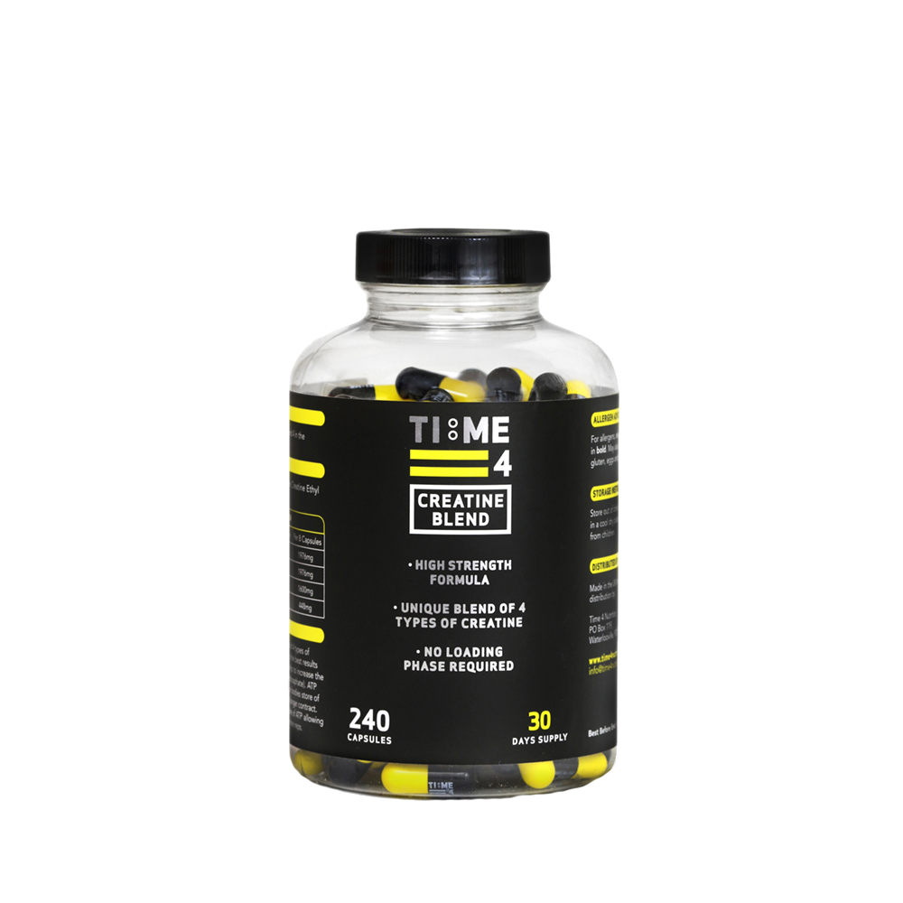 Creatine - (4 blend creatine for better absorption and effectiveness)Found naturally in foods. Shown to increase muscle strength and size if taken adequately.Price £20 for 240 capsules