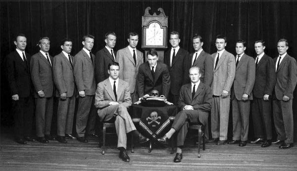 Skull & Bones can be a little creepy sometimes... BUT HEY it's still a fraternity!