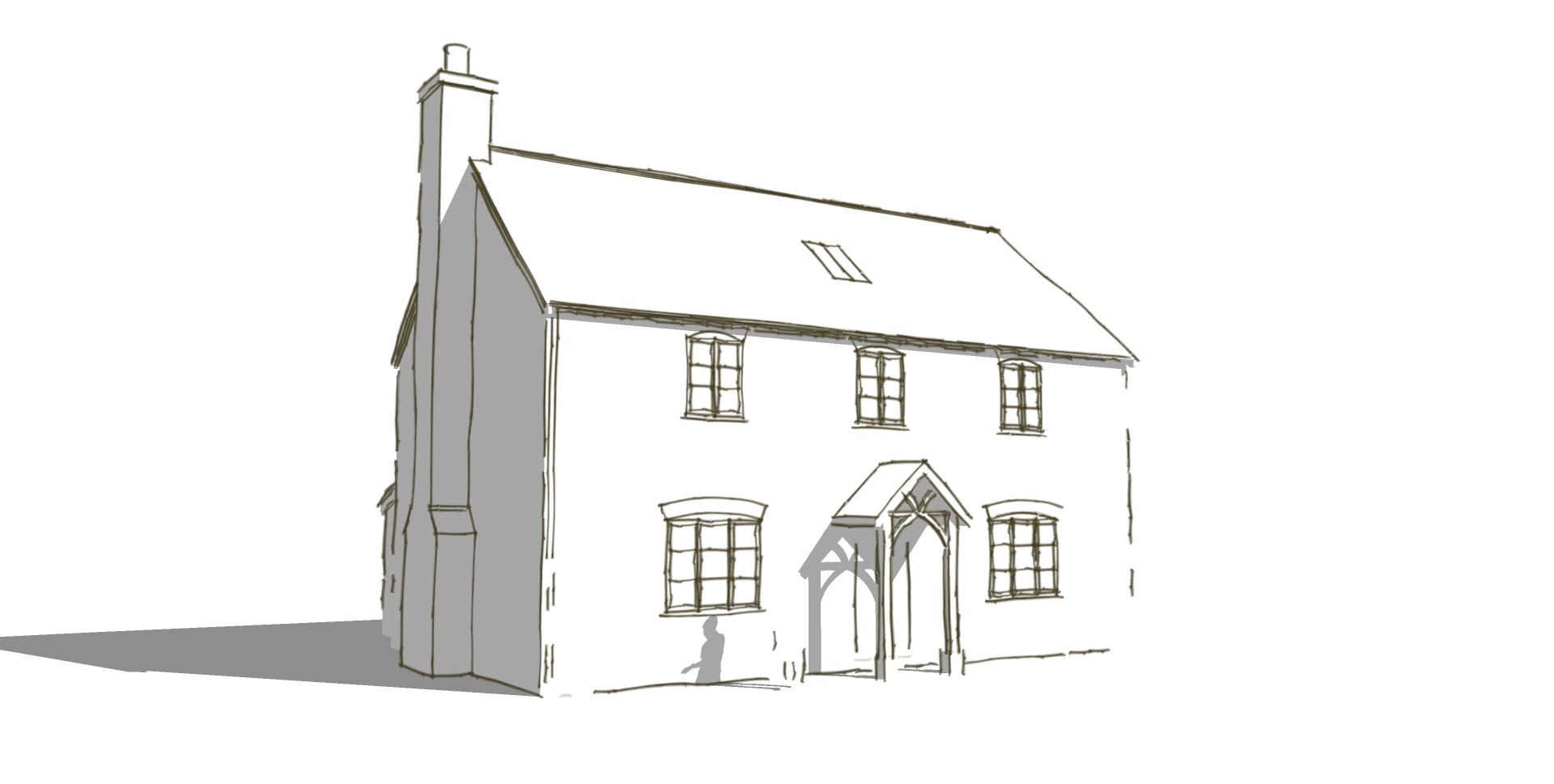 A new house that successfully achieved planning permission in a conservation area.