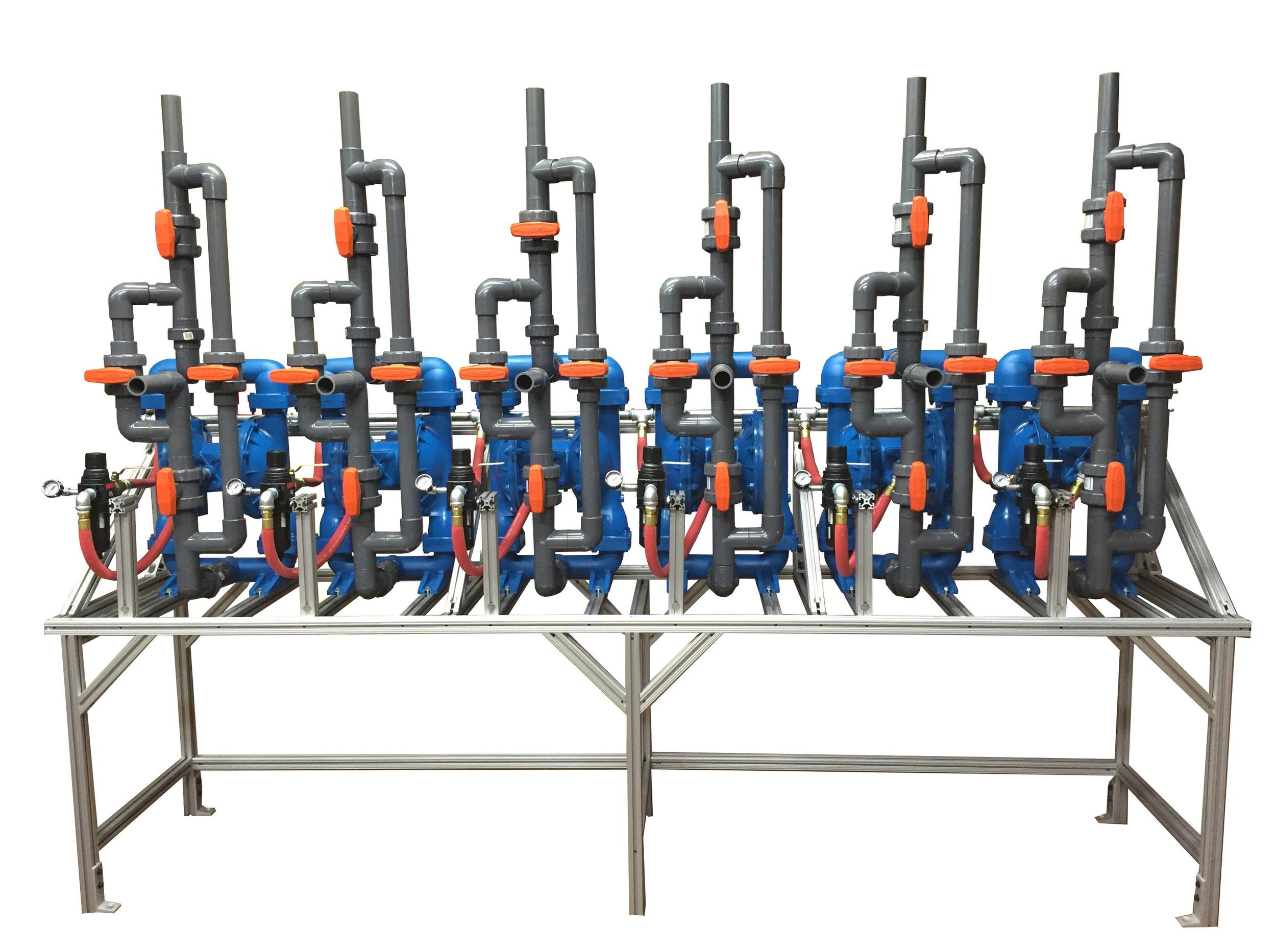 6 Pump Diaphragm Pump Rack