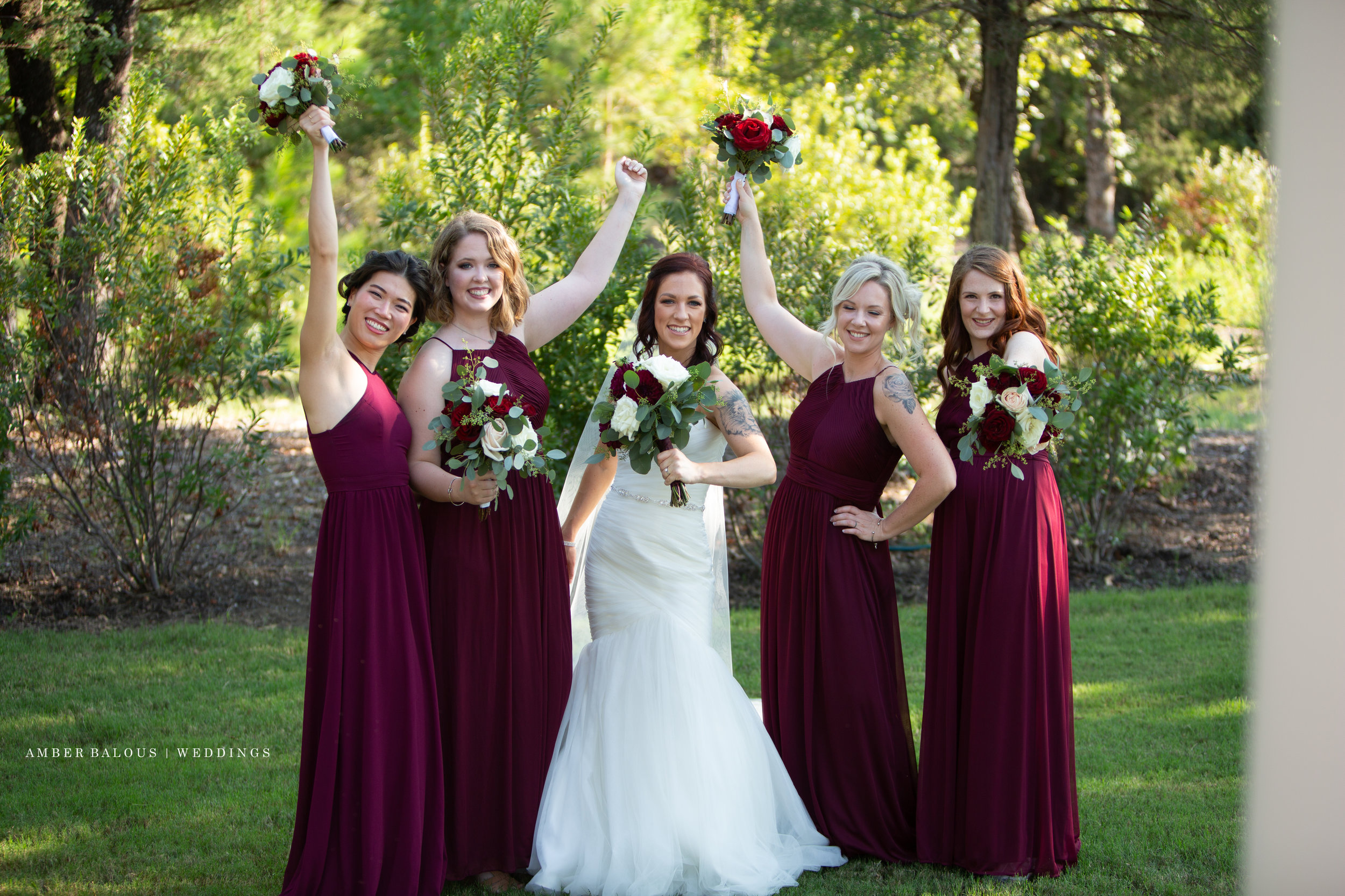rockwall tx bridal party photograph
