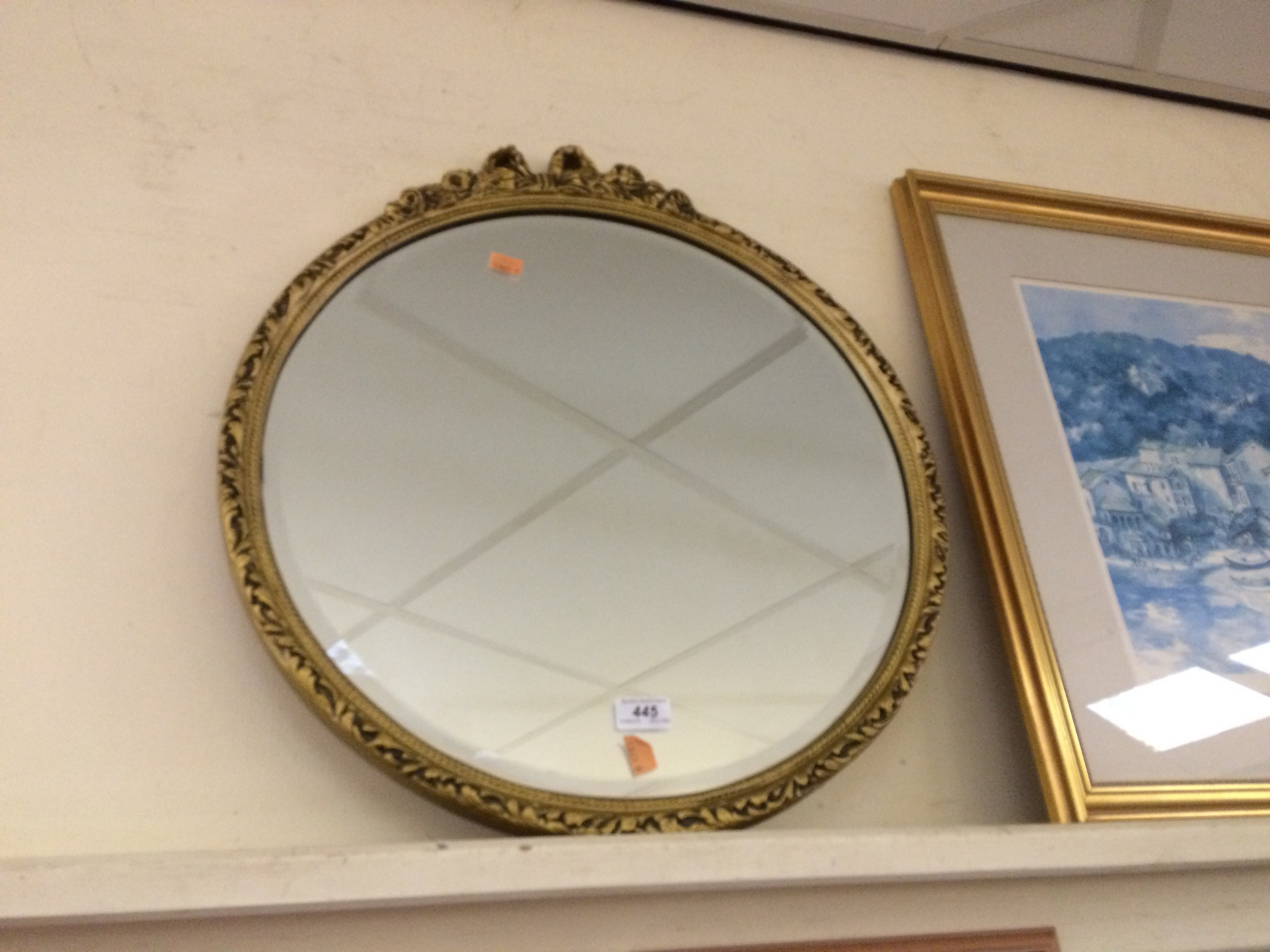 Guilt framed mirror