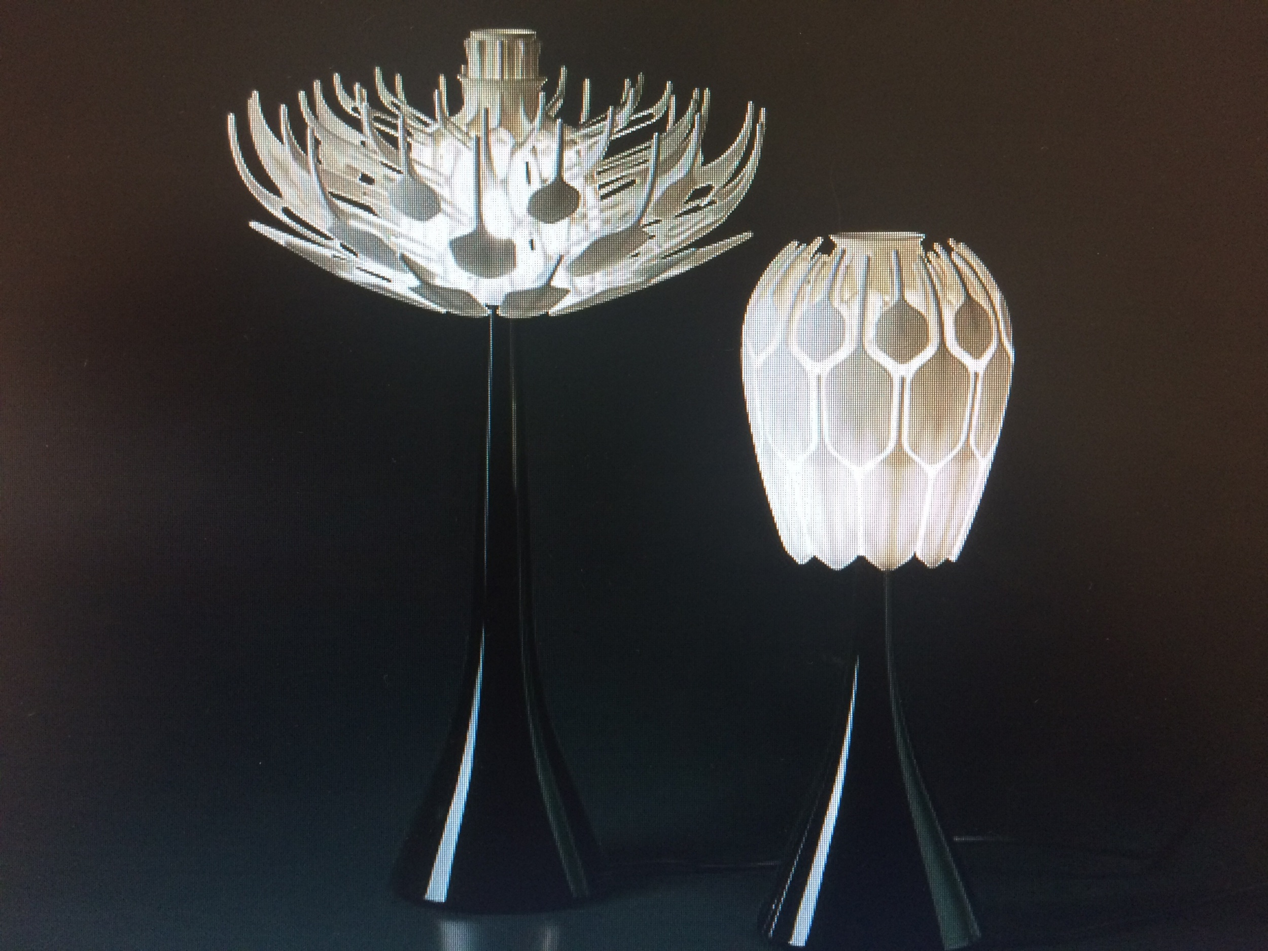 Bloom table lamp by Patric Jouin
