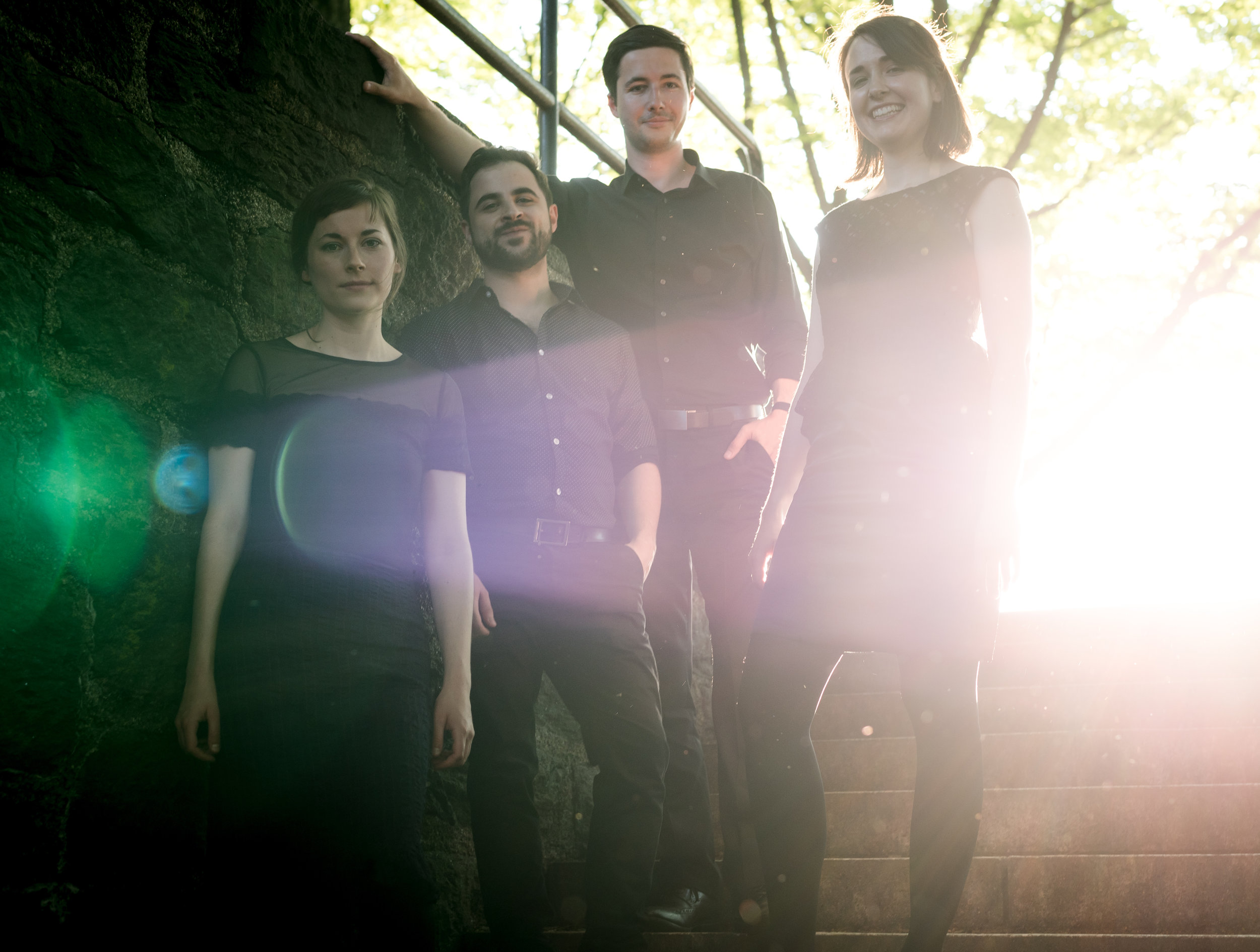 Puck Quartet at the final performance of the 2015 Robert Mann String Quartet Institute, Manhattan School of Music