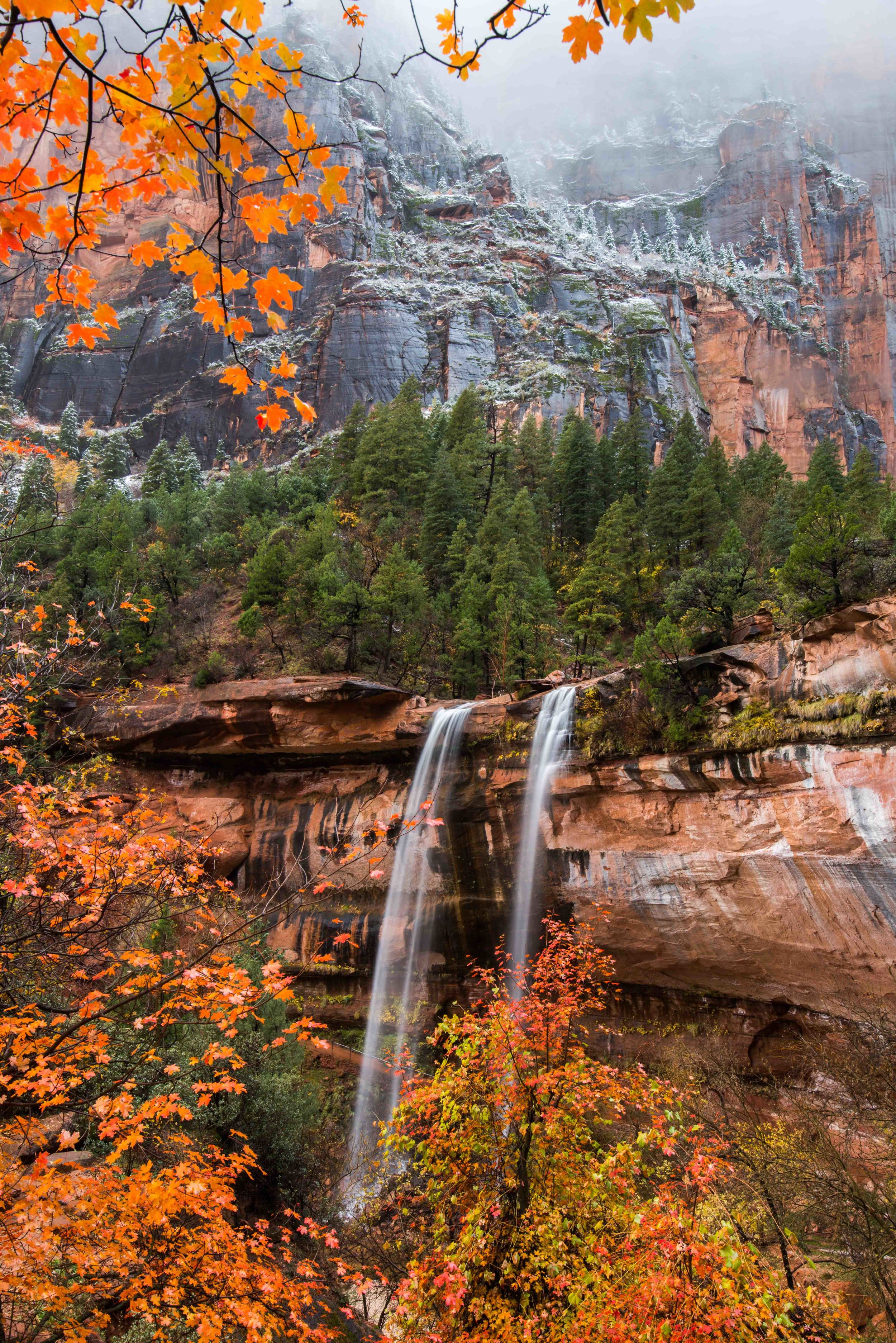 Emerald Pools in Zion during Autumn