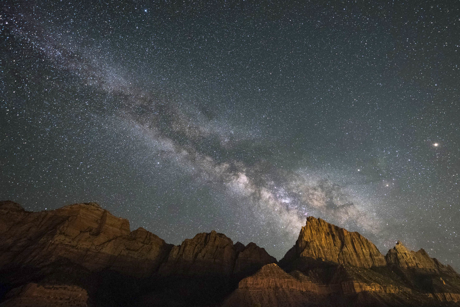 The Watchman of Zion with Milky Way Galaxy