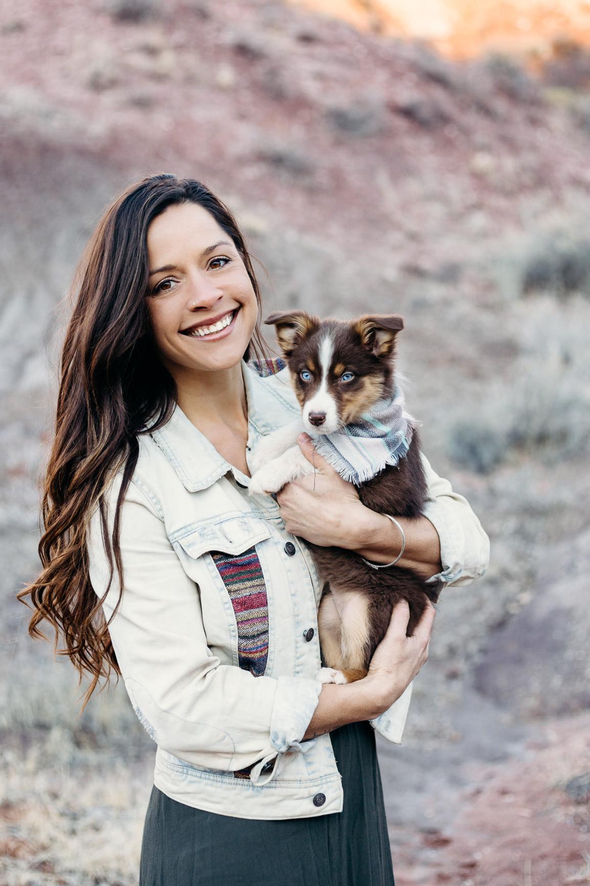 Kate Hope, Guide  Juniper Blue the magic dog