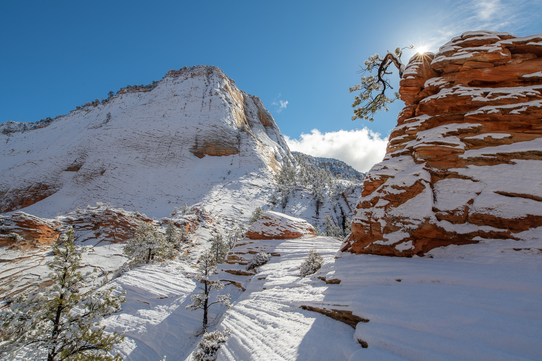 East Zion During Winter