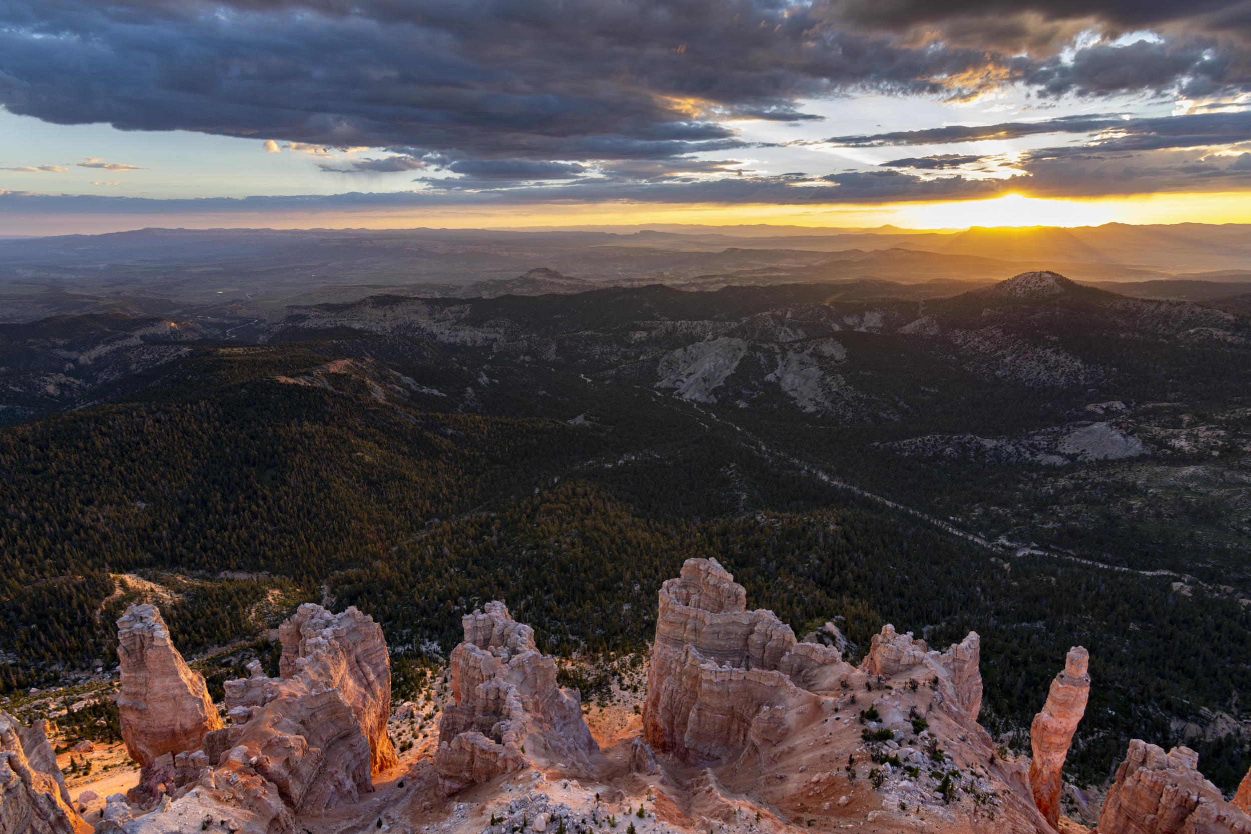 Powell Point at Sunset during Bryce Photo Tour